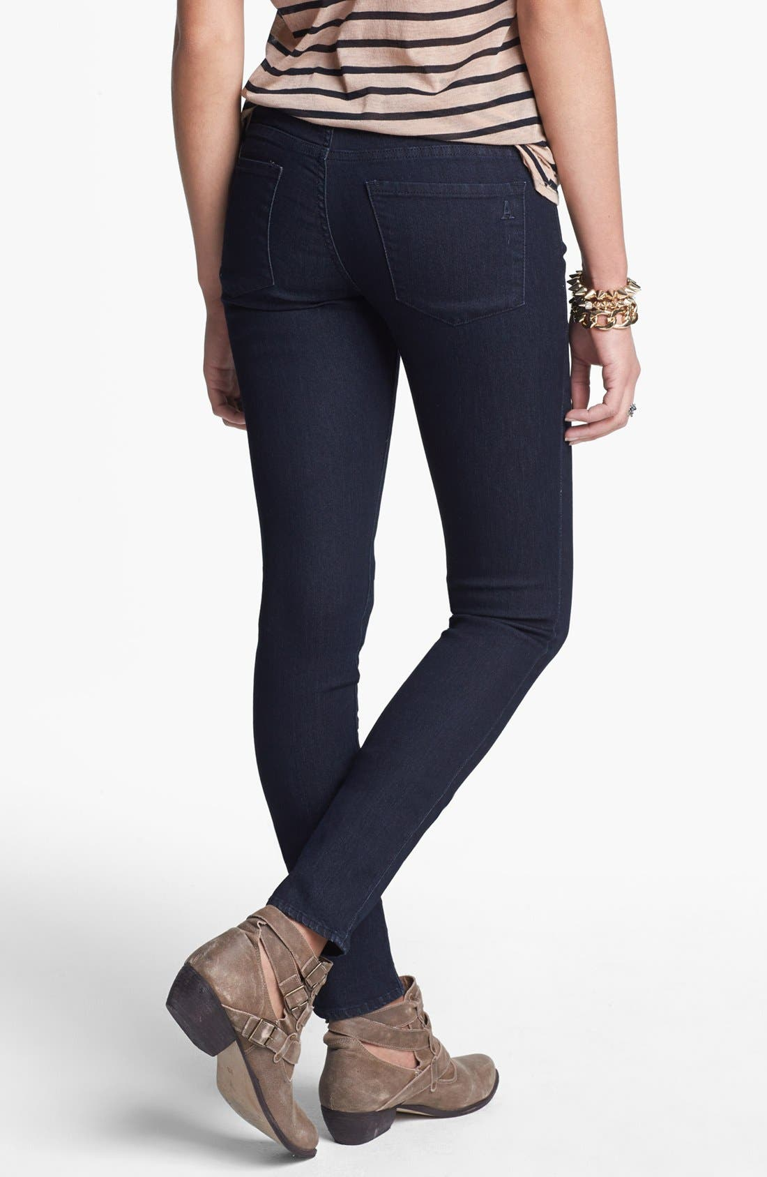 Alternate Image 2  - Articles of Society 'Lana' Skinny Jeans (Dark) (Juniors)