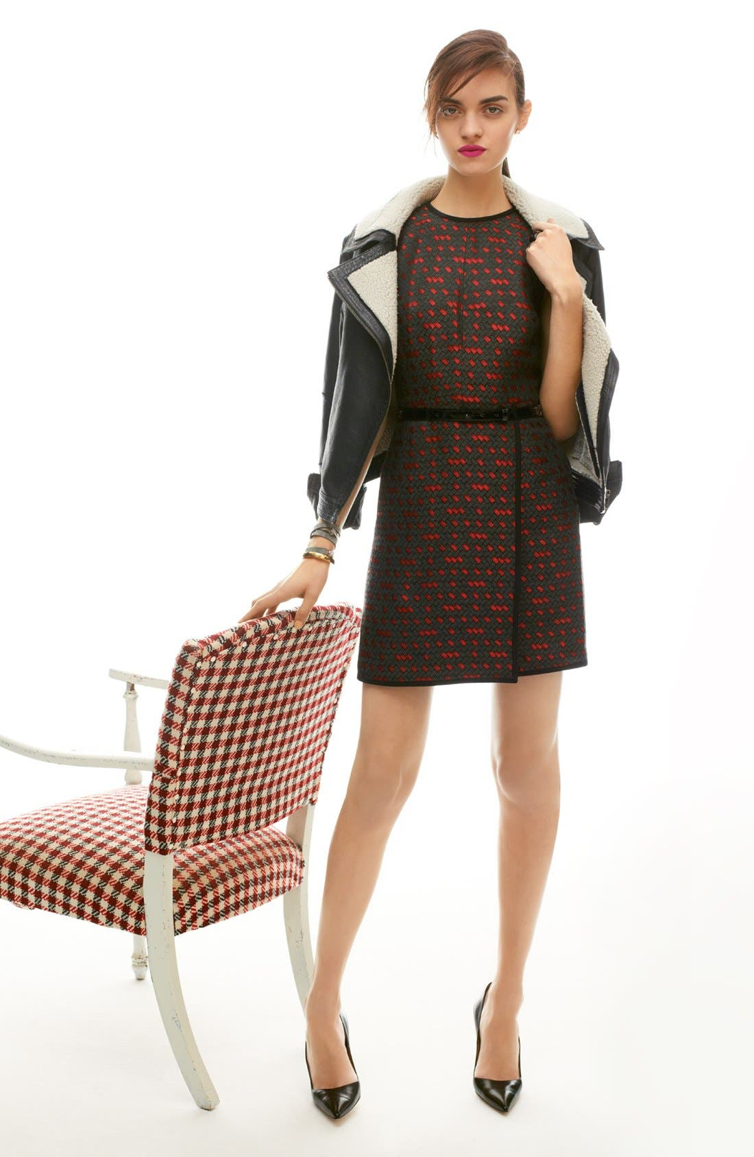 Alternate Image 7  - Miss Wu Genuine Shearling Moto Jacket (Nordstrom Exclusive)