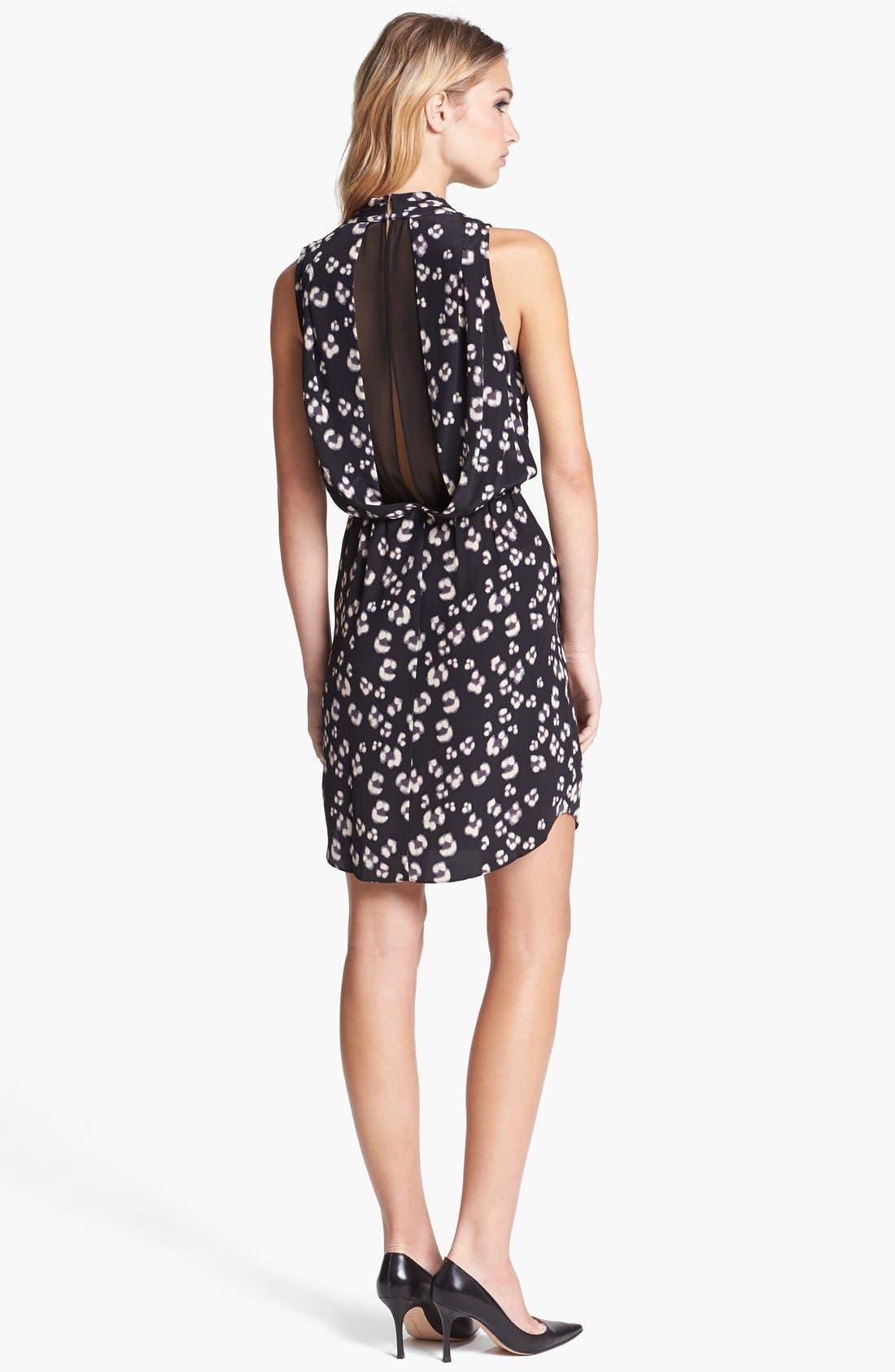 Alternate Image 2  - Rebecca Taylor 'Bobcat' Print Silk Blouson Dress