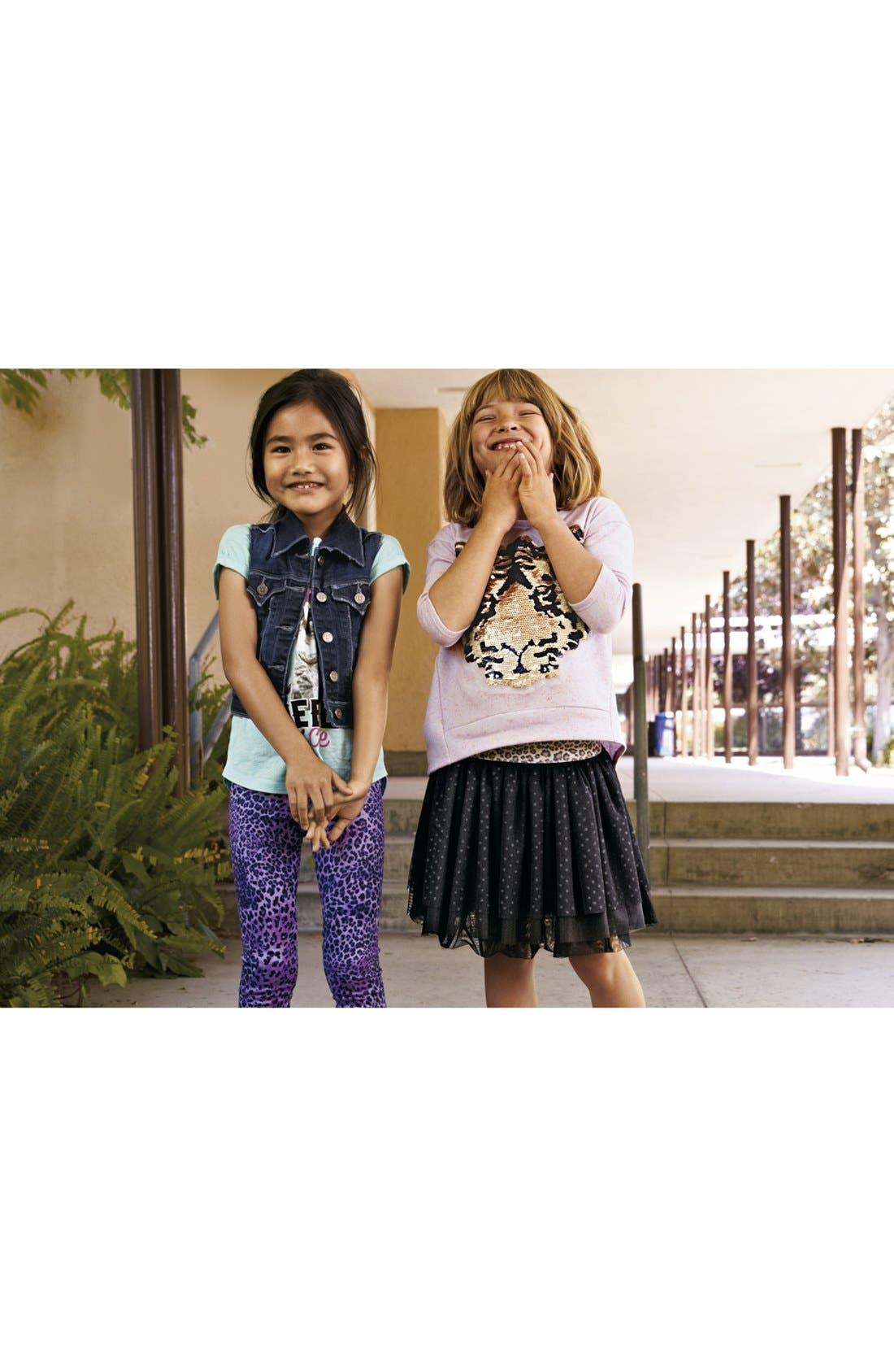 Alternate Image 2  - TA-EAM Leopard Print Leggings (Little Girls)