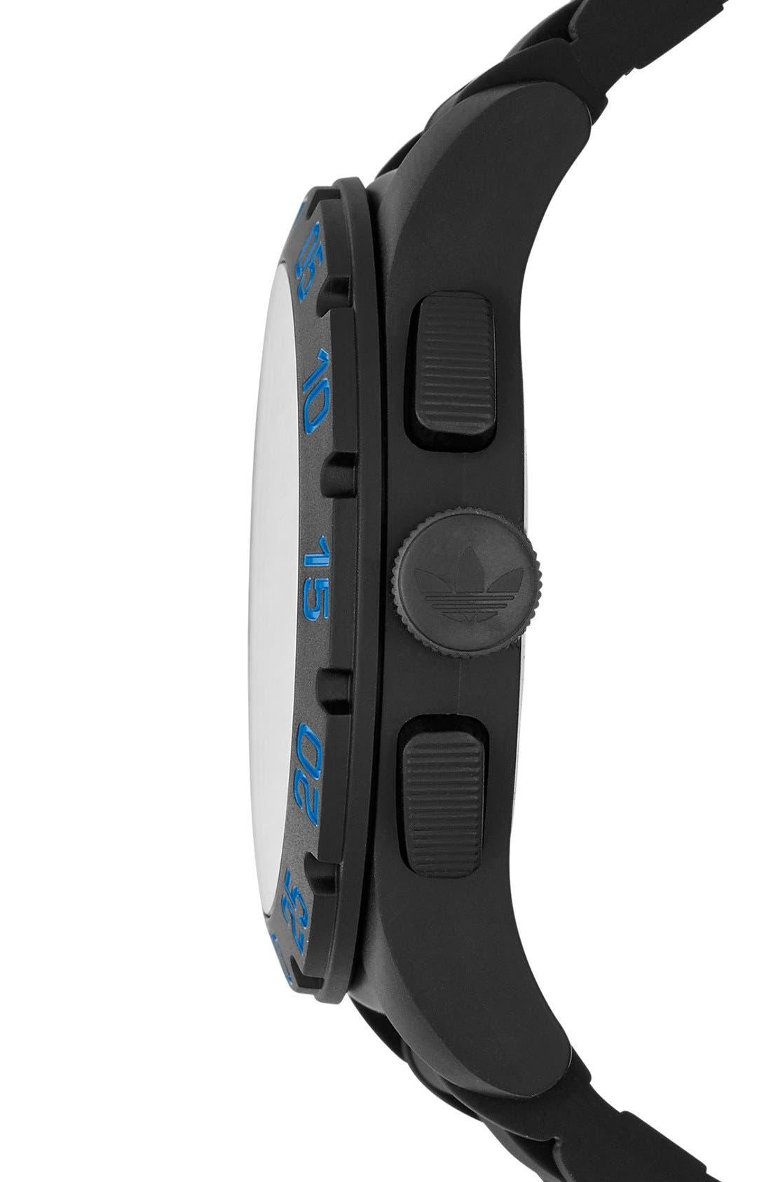 Alternate Image 3  - adidas Originals 'Newburgh' Chronograph Silicone Strap Watch, 48mm