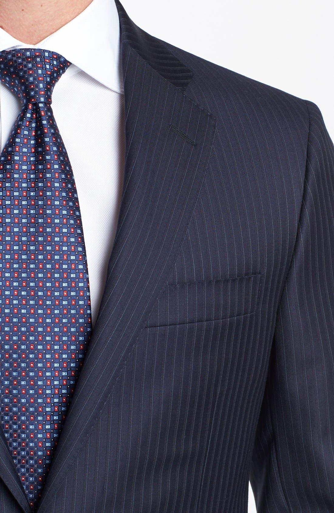 Alternate Image 2  - Hickey Freeman 'B Series' Classic Fit Stripe Suit