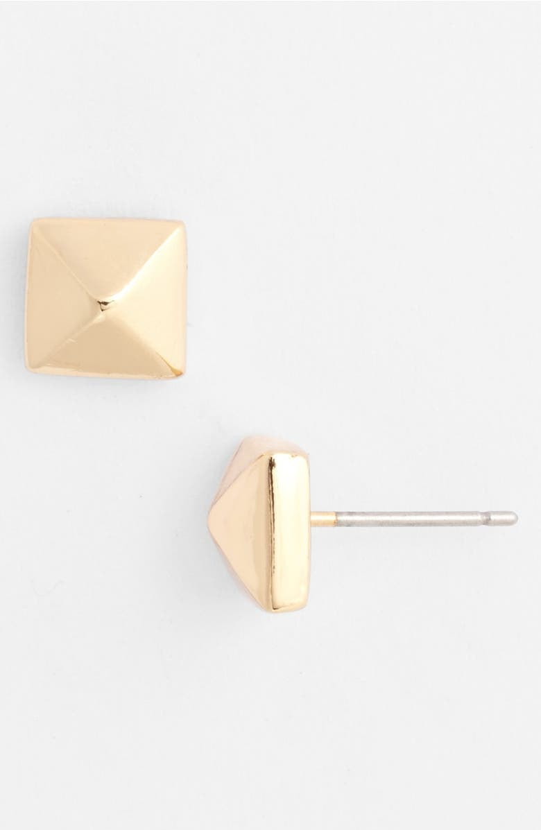 accented stud lyst earrings jewelry diamond sydney product gallery evan pyramid gold