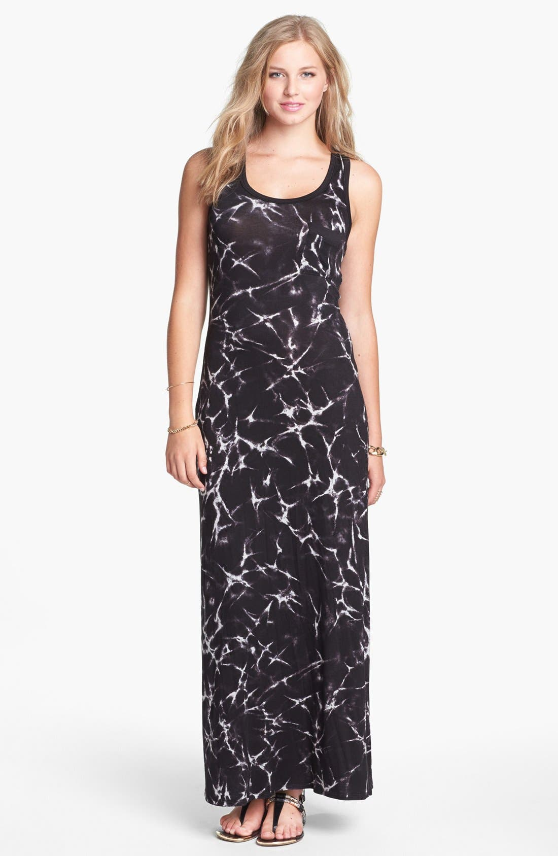 Alternate Image 1 Selected - Soprano Racerback Maxi Dress (Juniors)