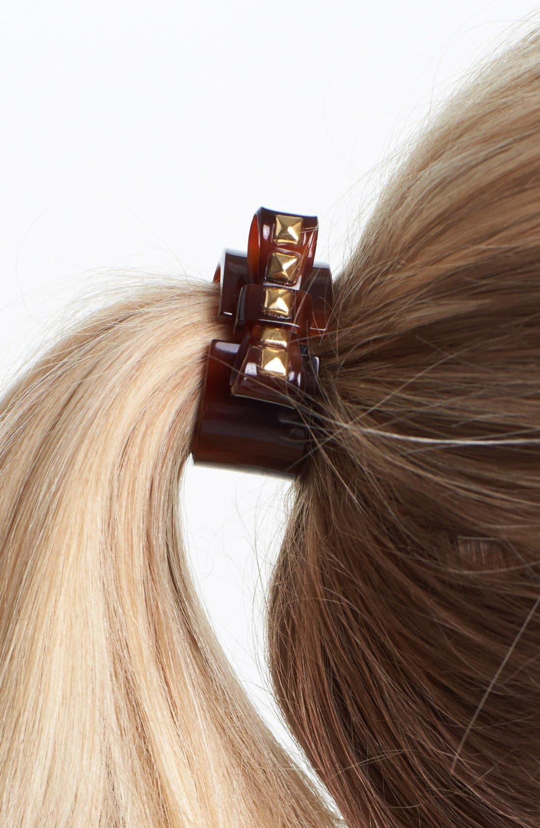 Alternate Image 2  - L. Erickson Studded Bow Cuff Ponytail Holder