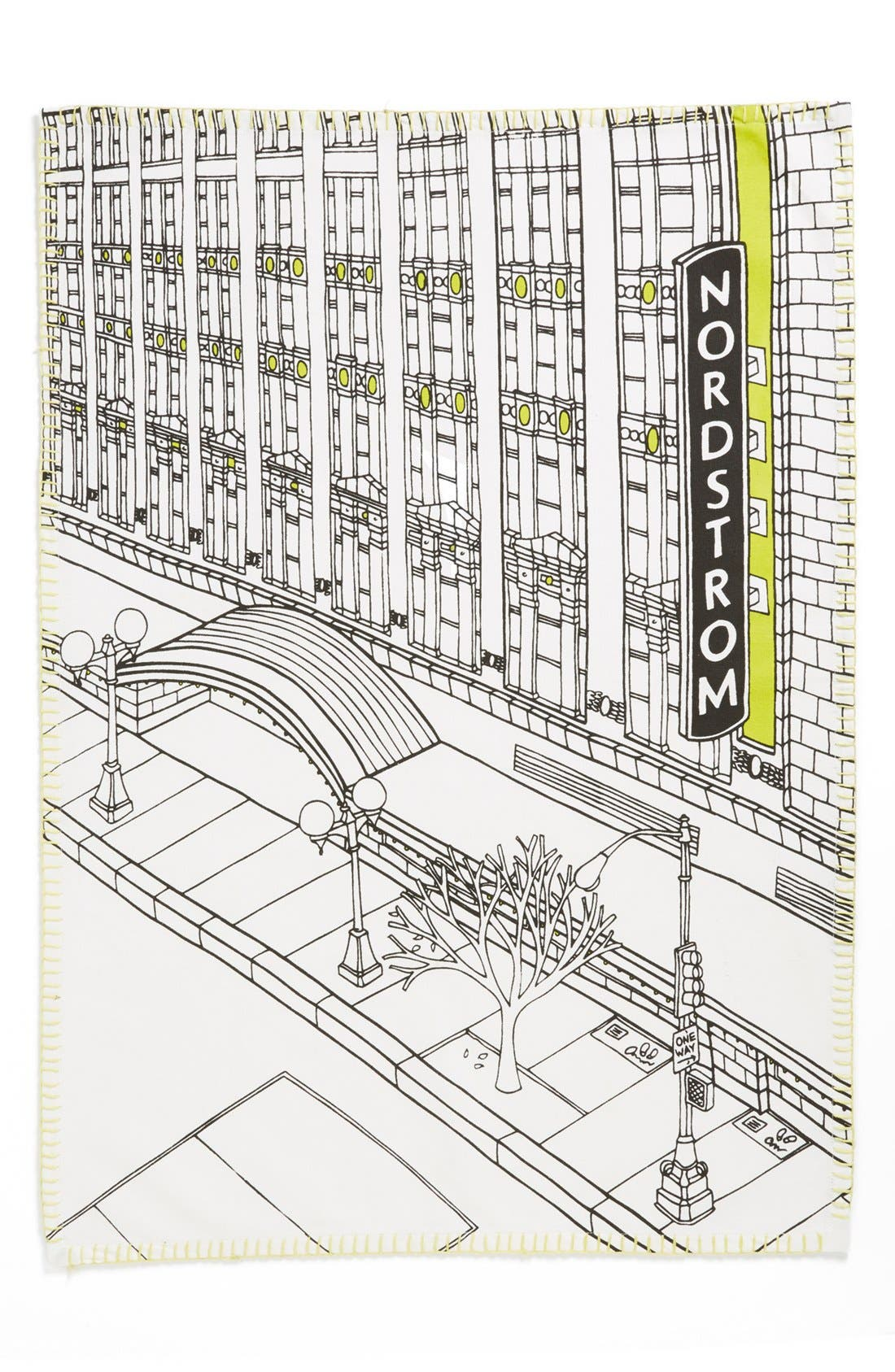 Main Image - Nordstrom Heritage Collection 'Seattle Flagship Storefront' Print Dish Towel