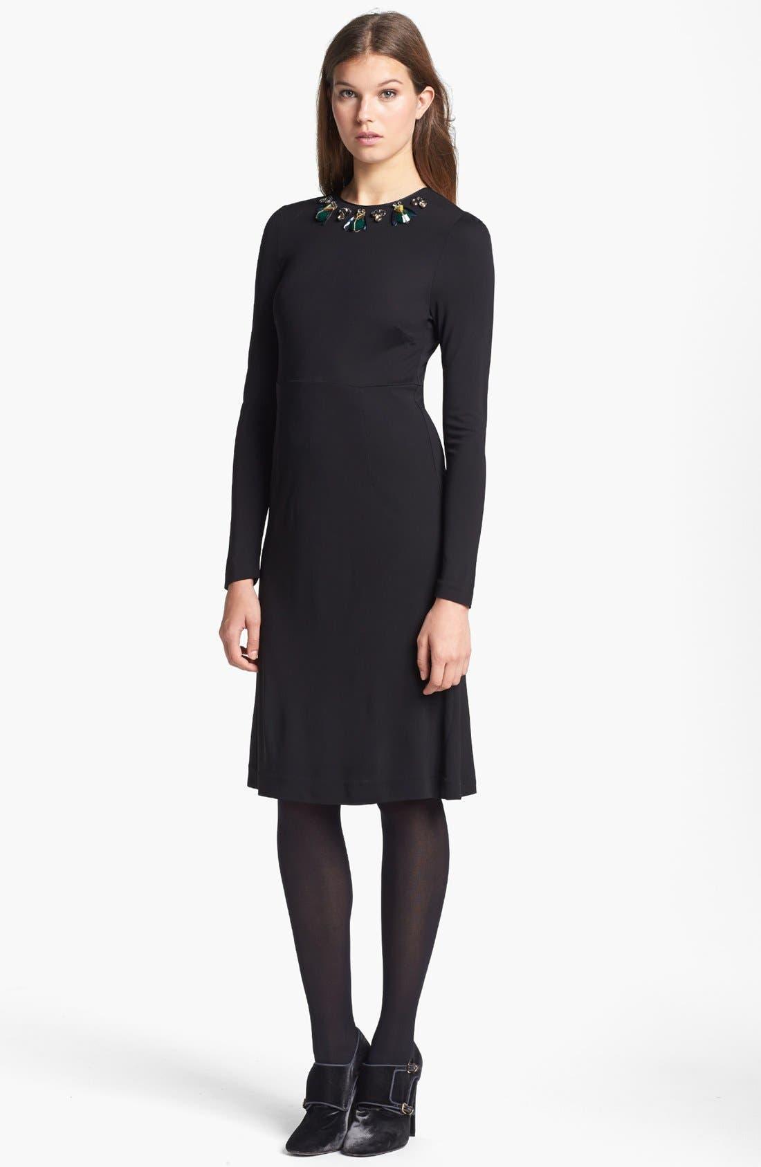Main Image - Tory Burch 'Deena' Embellished A-Line Dress