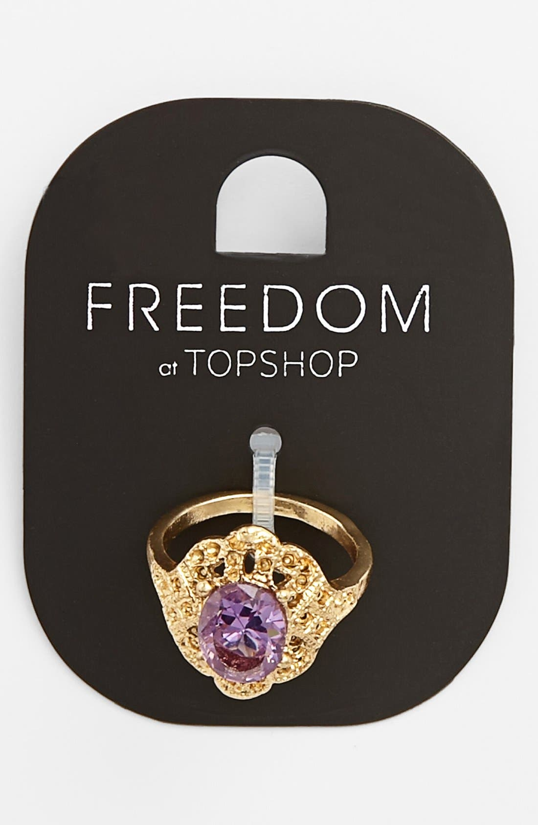 Main Image - Topshop Ornate Stone Ring