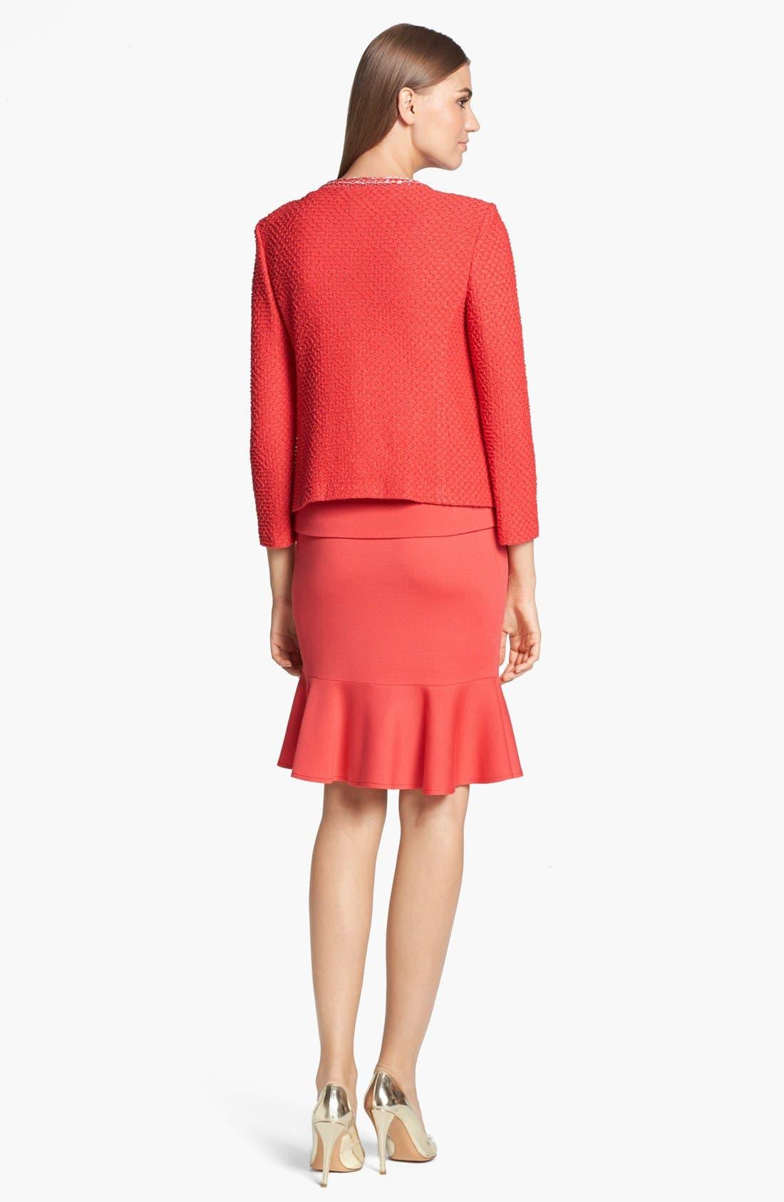 Alternate Image 3  - St. John Collection Flounce Hem Milano Knit Pencil Skirt
