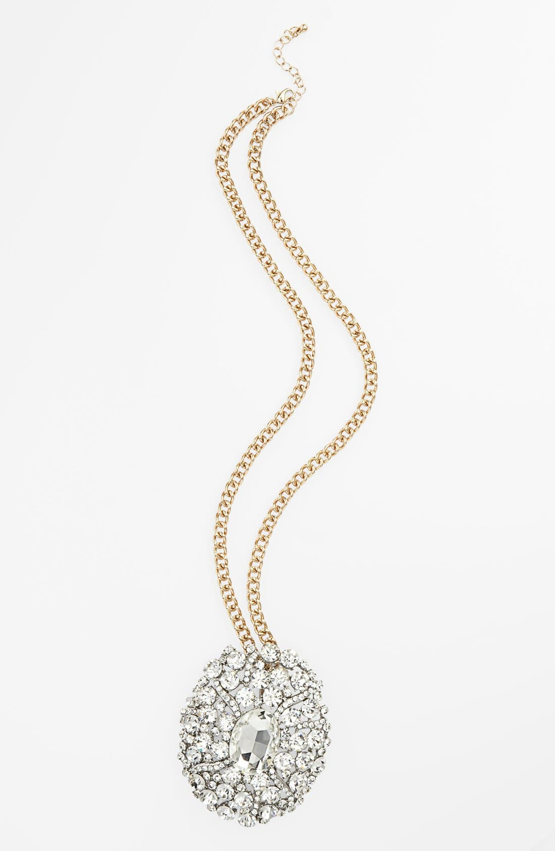 Alternate Image 1 Selected - Topshop Stone Pendant