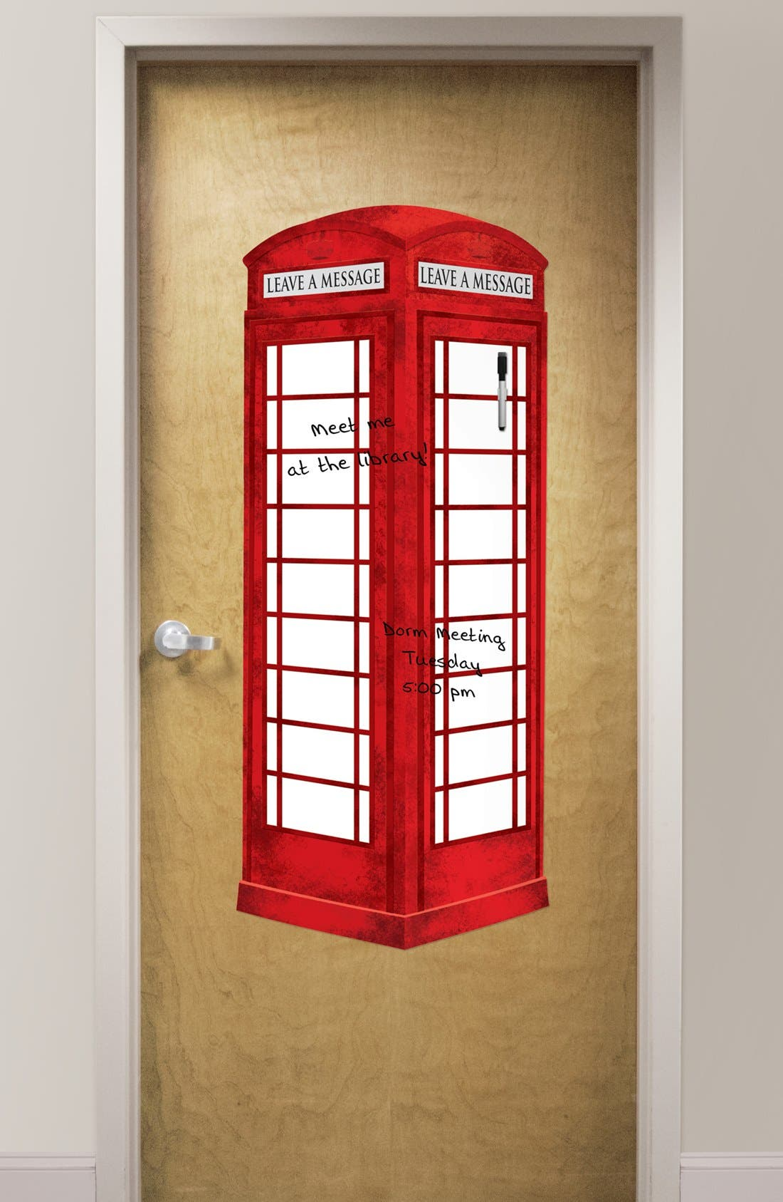 Alternate Image 1 Selected - Wallpops London Phone Booth Dry Erase Board