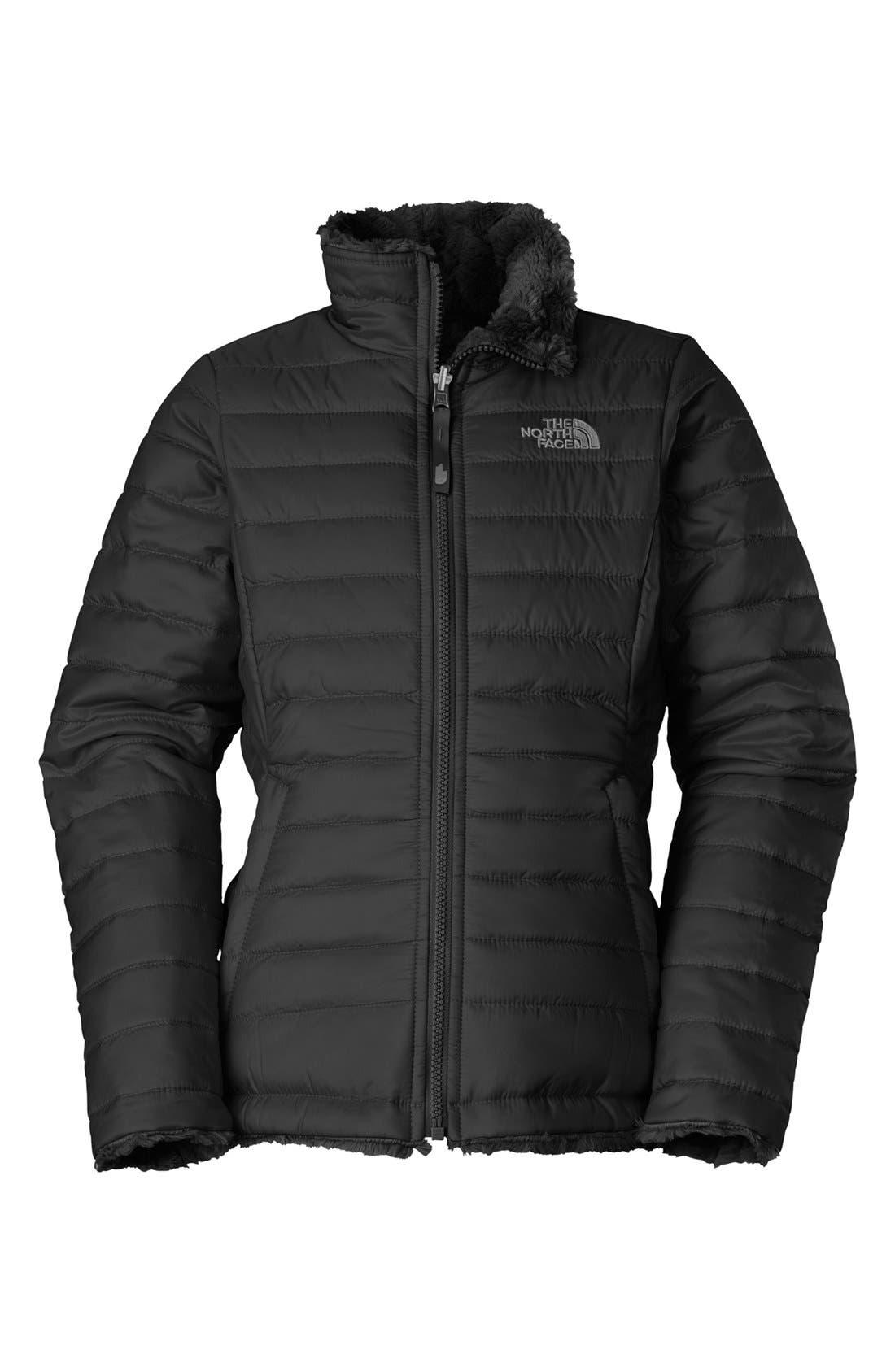 Main Image - The North Face 'Mossbud Swirl' Reversible Jacket (Little Girls & Big Girls)