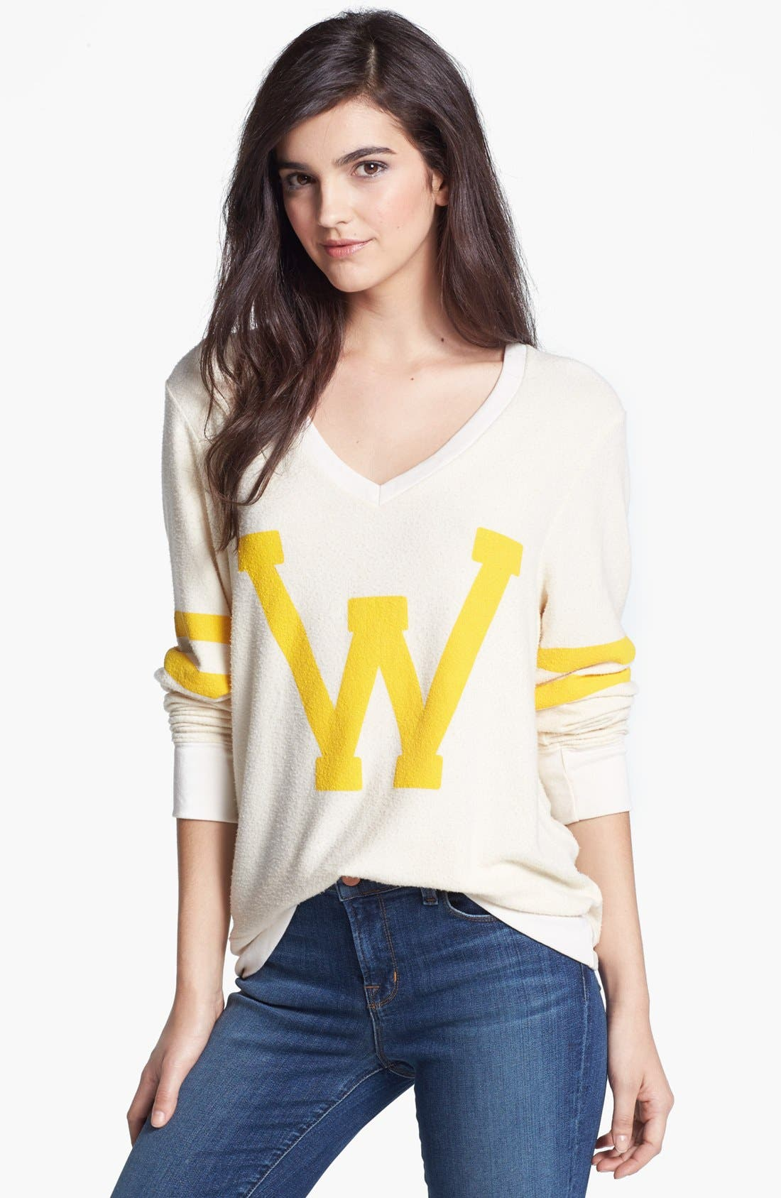 Main Image - Wildfox Letterman Sweatshirt
