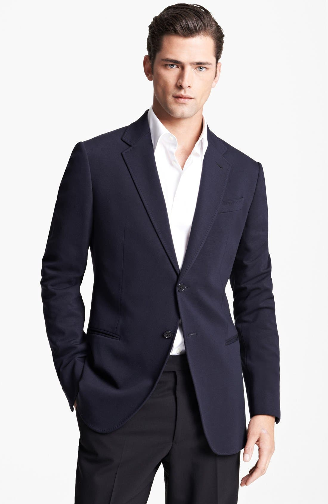 Alternate Image 1 Selected - Armani Collezioni Jersey Blazer