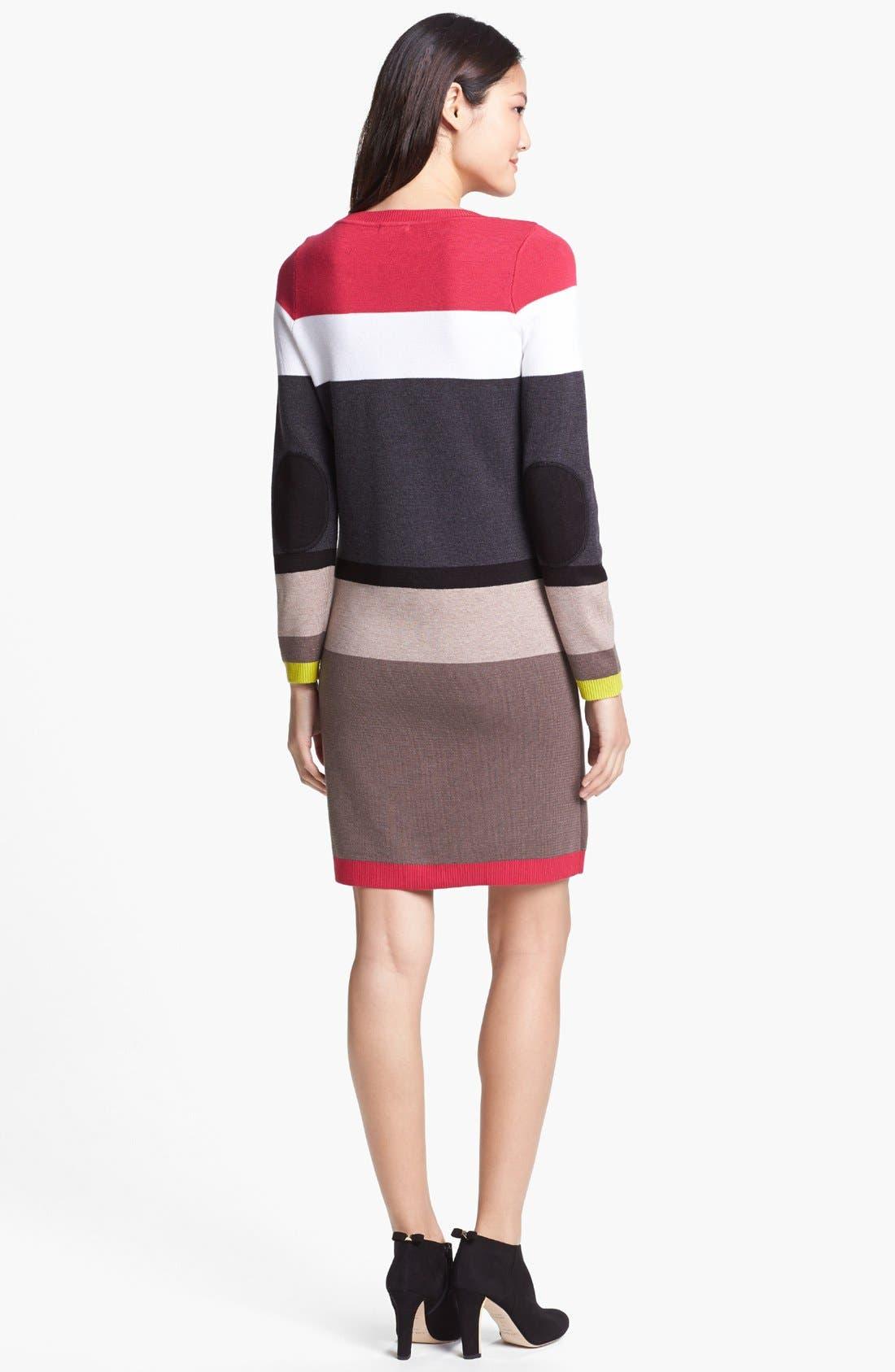 Alternate Image 2  - Eliza J Stripe Sweater Dress