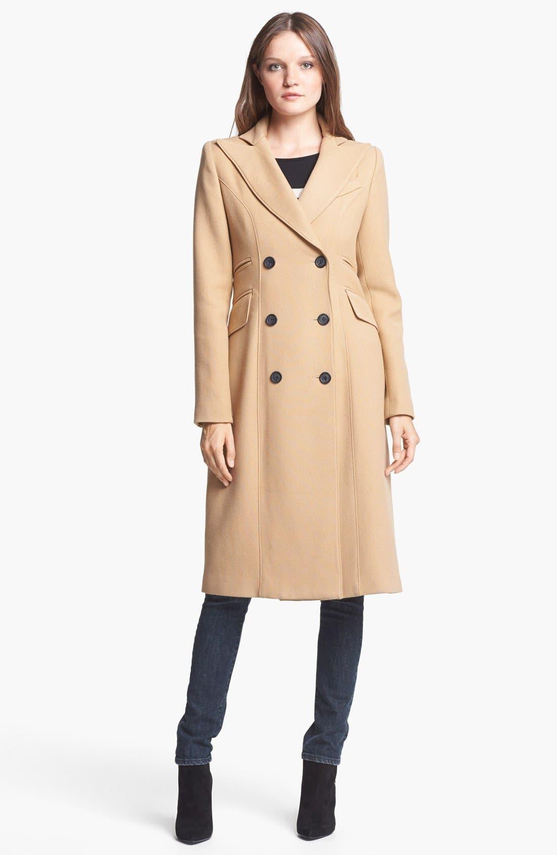Alternate Image 2  - Smythe Long Double Breasted Wool Coat