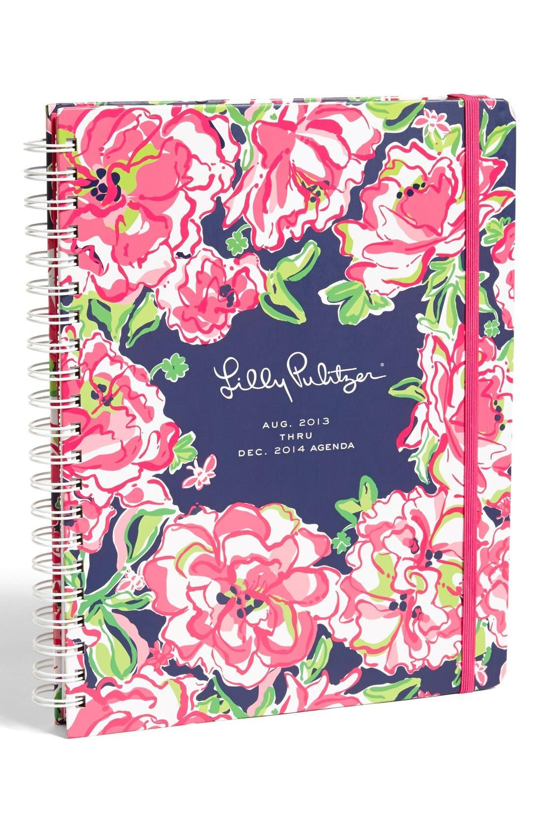 Alternate Image 1 Selected - Lilly Pulitzer® Floral Print Jumbo Agenda