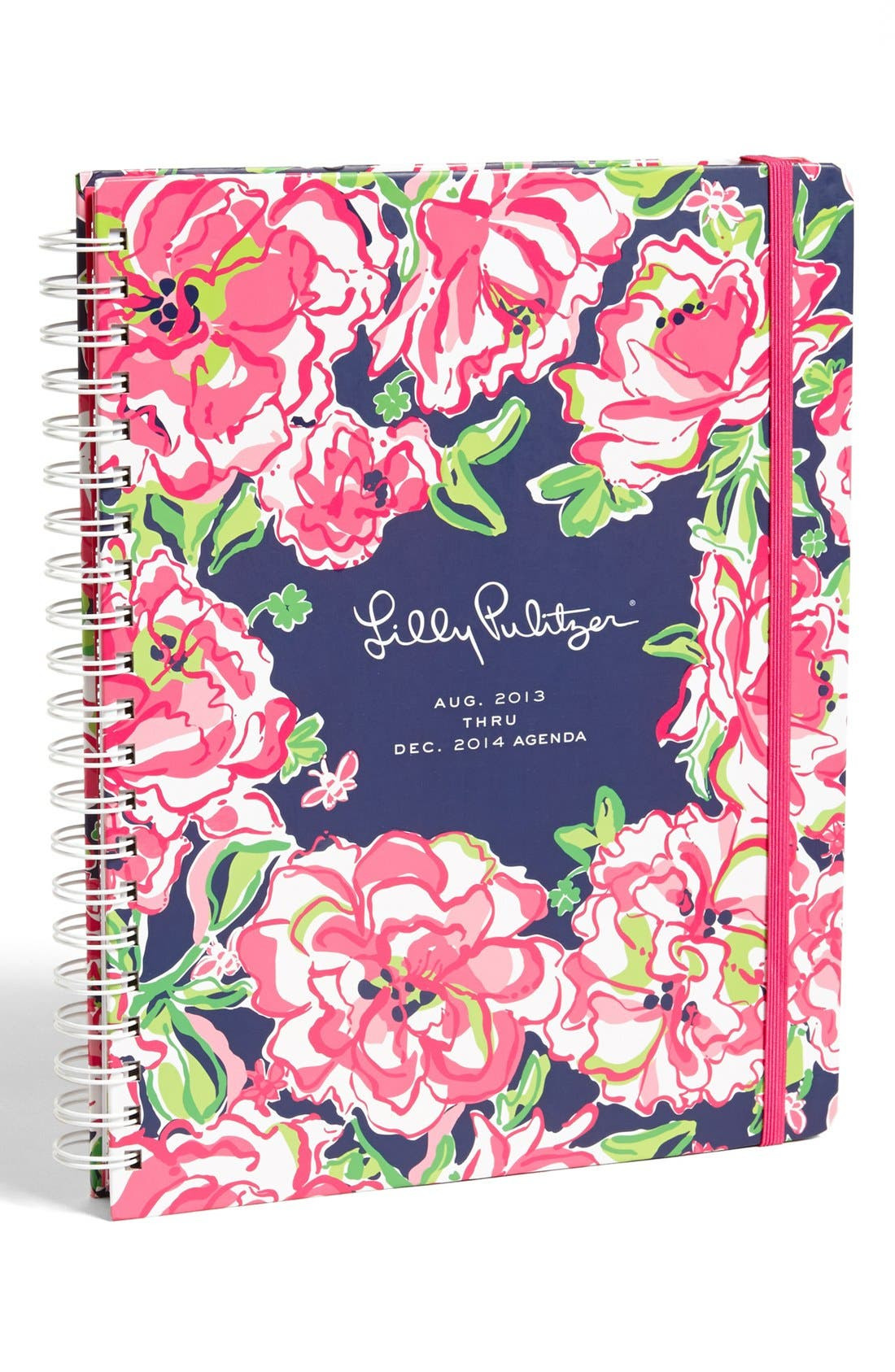 Main Image - Lilly Pulitzer® Floral Print Jumbo Agenda