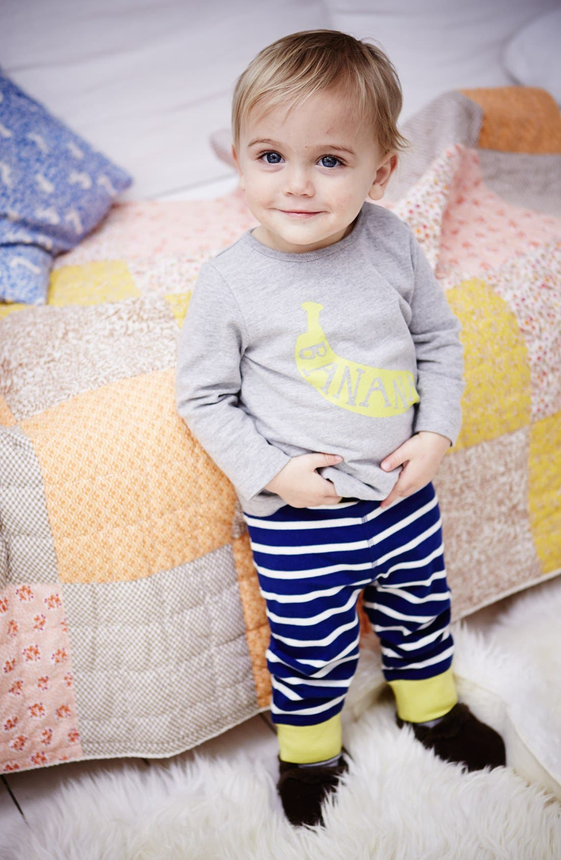 Alternate Image 2  - Mini Boden Shirt & Leggings (Baby Boys)