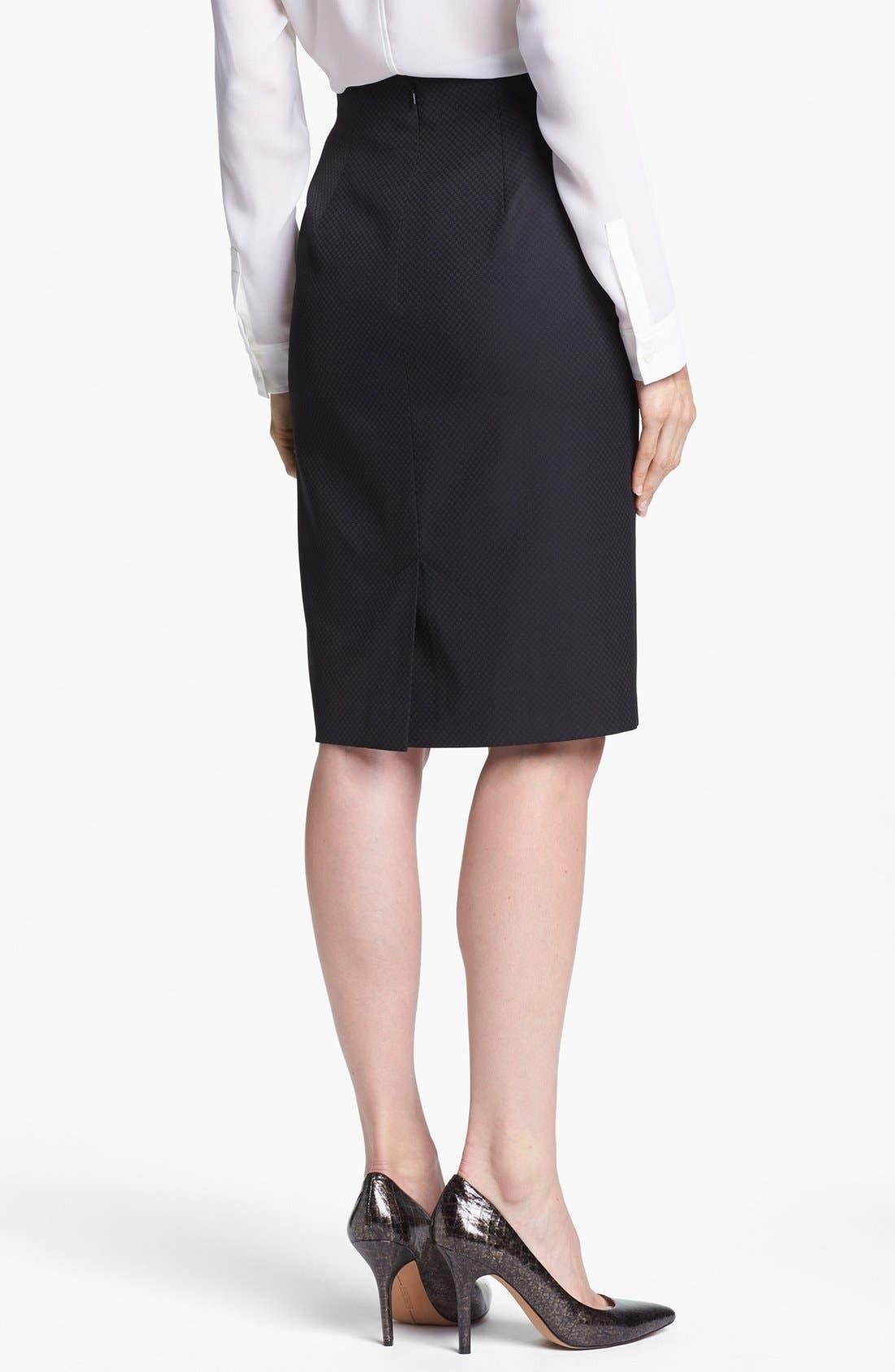 Alternate Image 4  - Halogen® Pleat Jacquard Suit Skirt