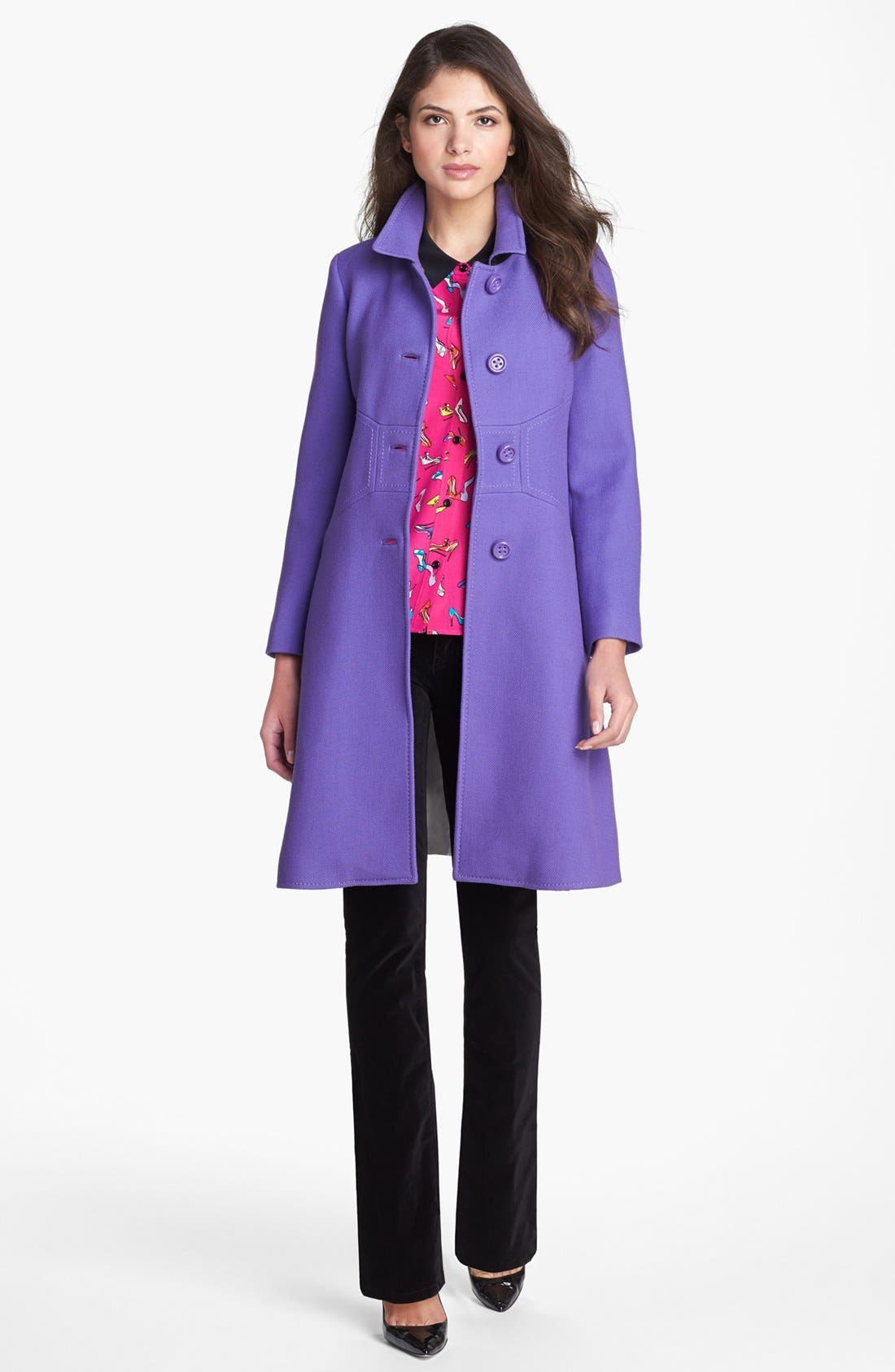 Alternate Image 4  - kate spade new york 'lorelle' print silk shirt