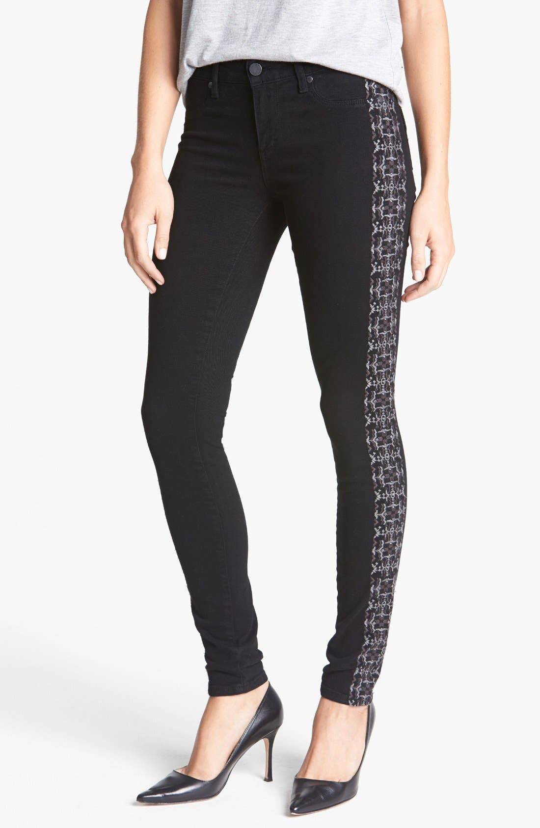 Alternate Image 1 Selected - Paige Denim 'Verdugo' Embroidered Ultra Skinny Jeans (Caliente Embroidery)