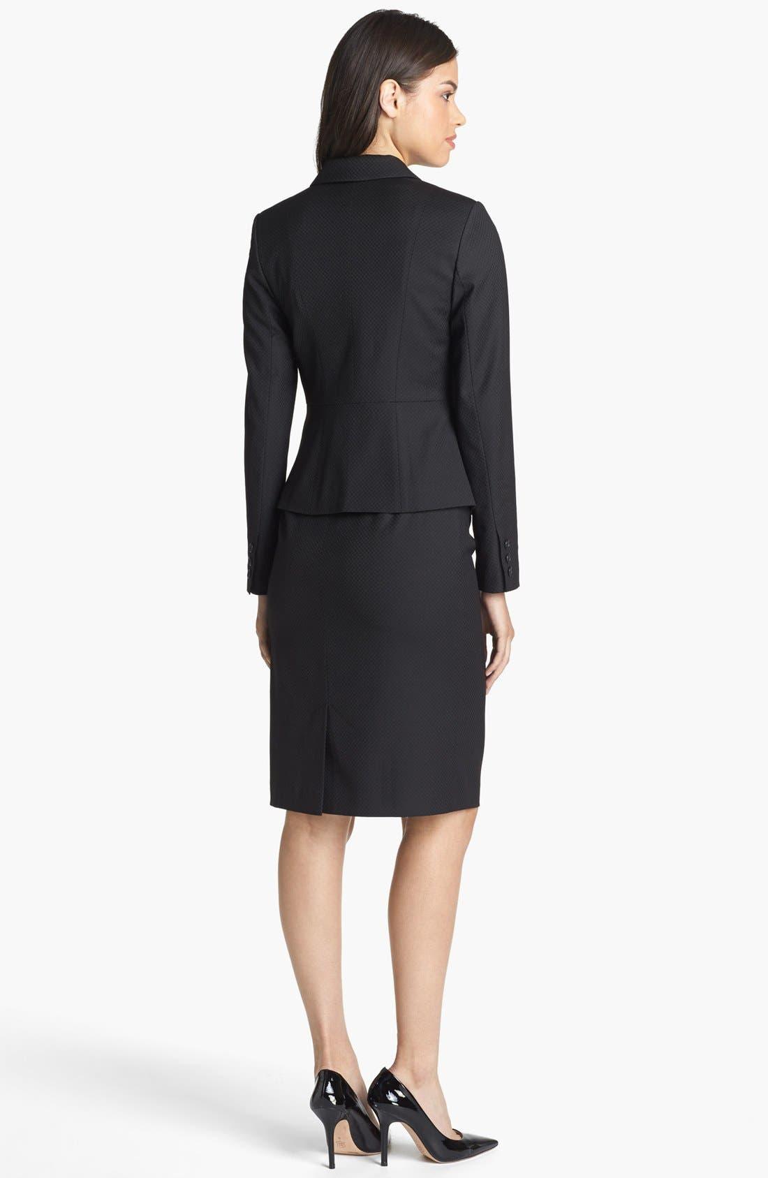 Alternate Image 3  - Halogen® Pleat Jacquard Suit Skirt