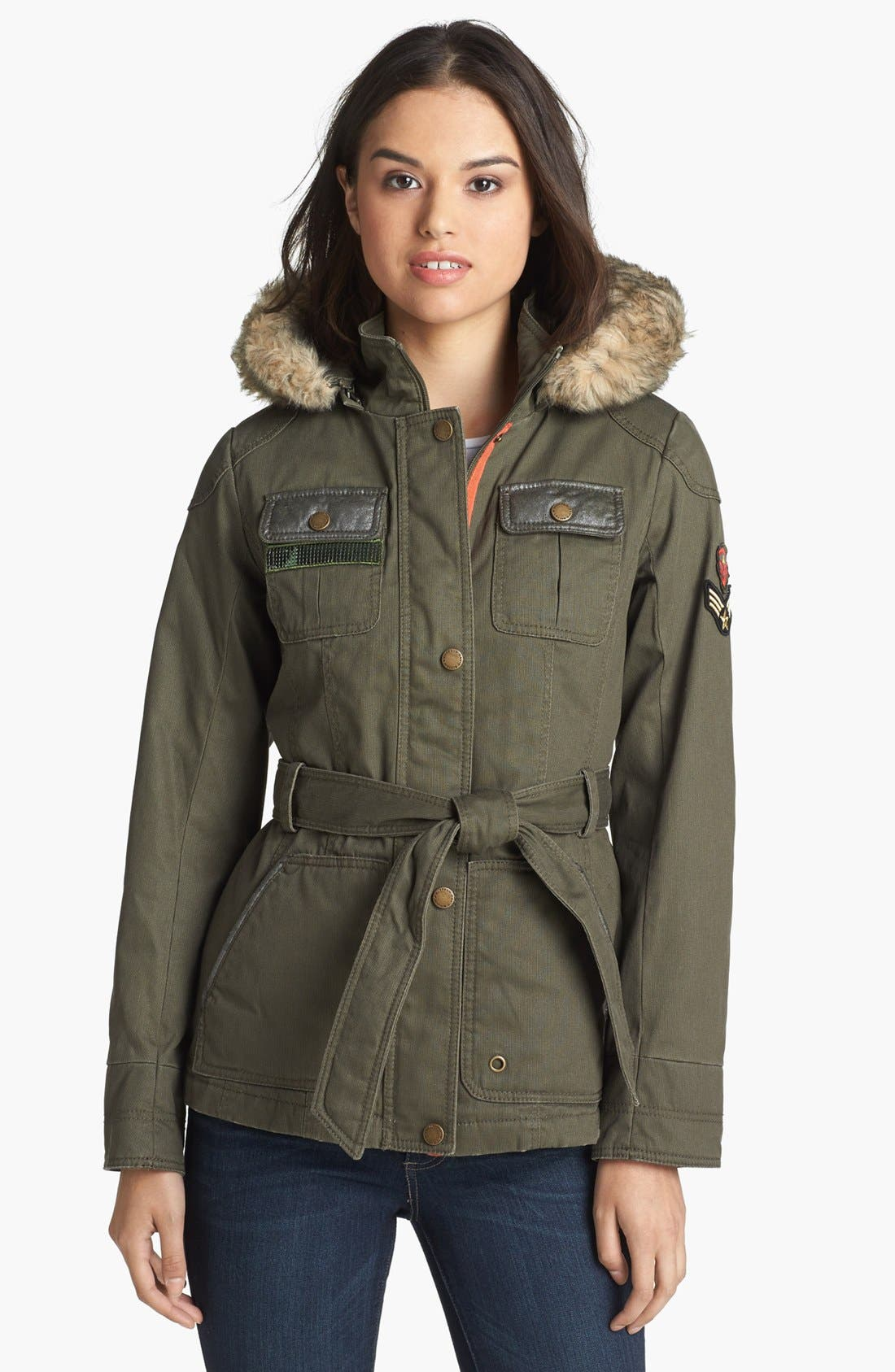 Alternate Image 1 Selected - Buffalo by David Bitton Faux Fur Trim Parka (Online Only)