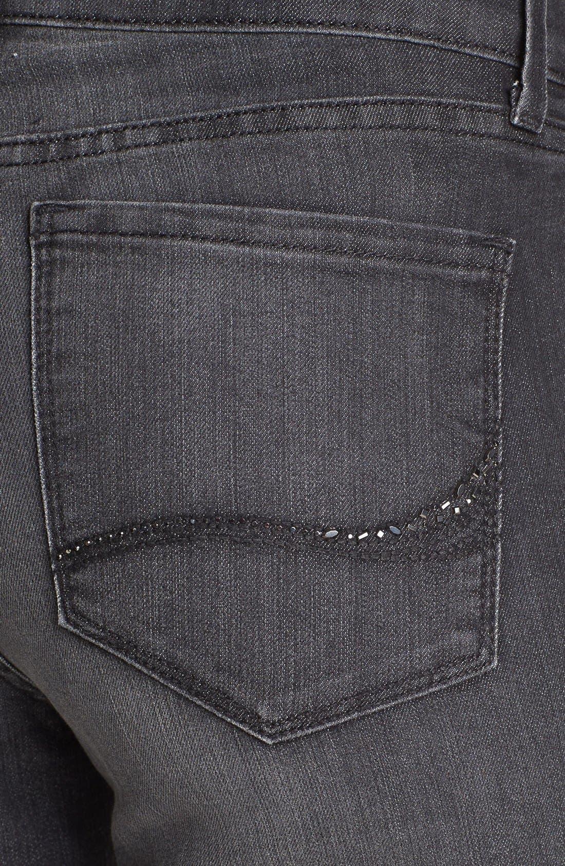 Alternate Image 3  - NYDJ 'Alina' Stretch Skinny Jeans (Raven)