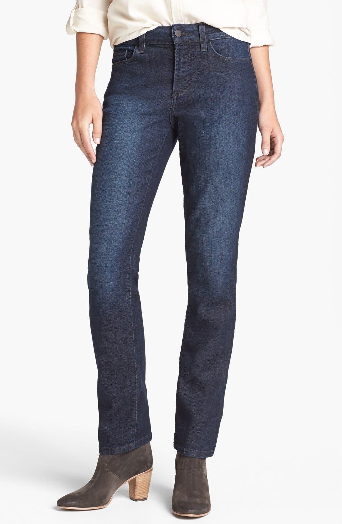 Main Image - NYDJ 'Sheri' Embellished Pocket Stretch Skinny Jeans