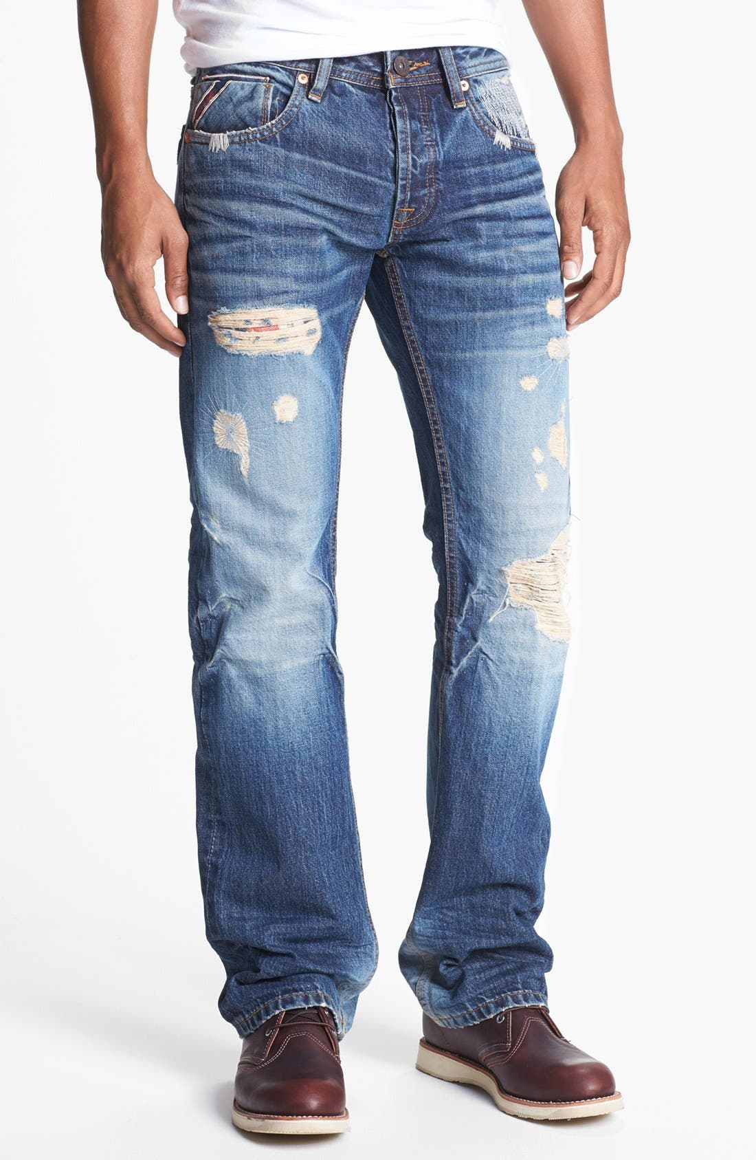 Alternate Image 2  - Cult of Individuality 'Hagen' Relaxed Fit Selvedge Jeans (Vertigo)
