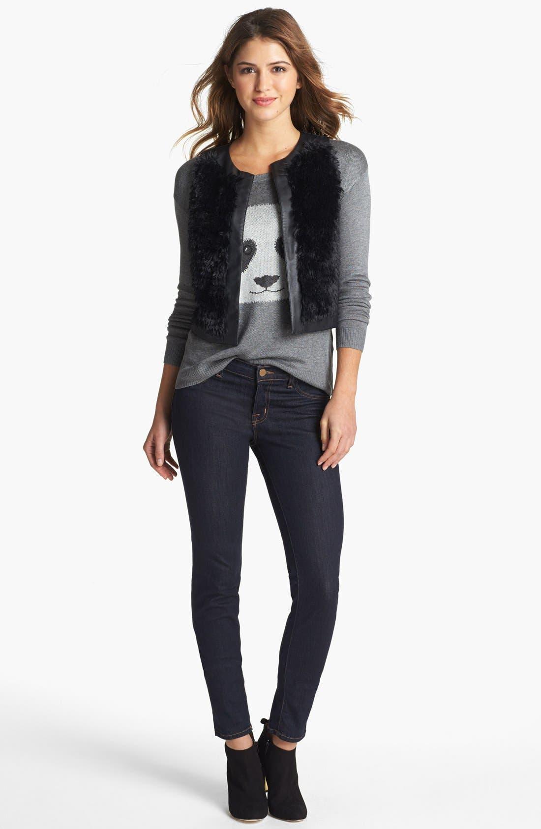 Alternate Image 4  - kensie Faux Fur & Faux Leather Vest
