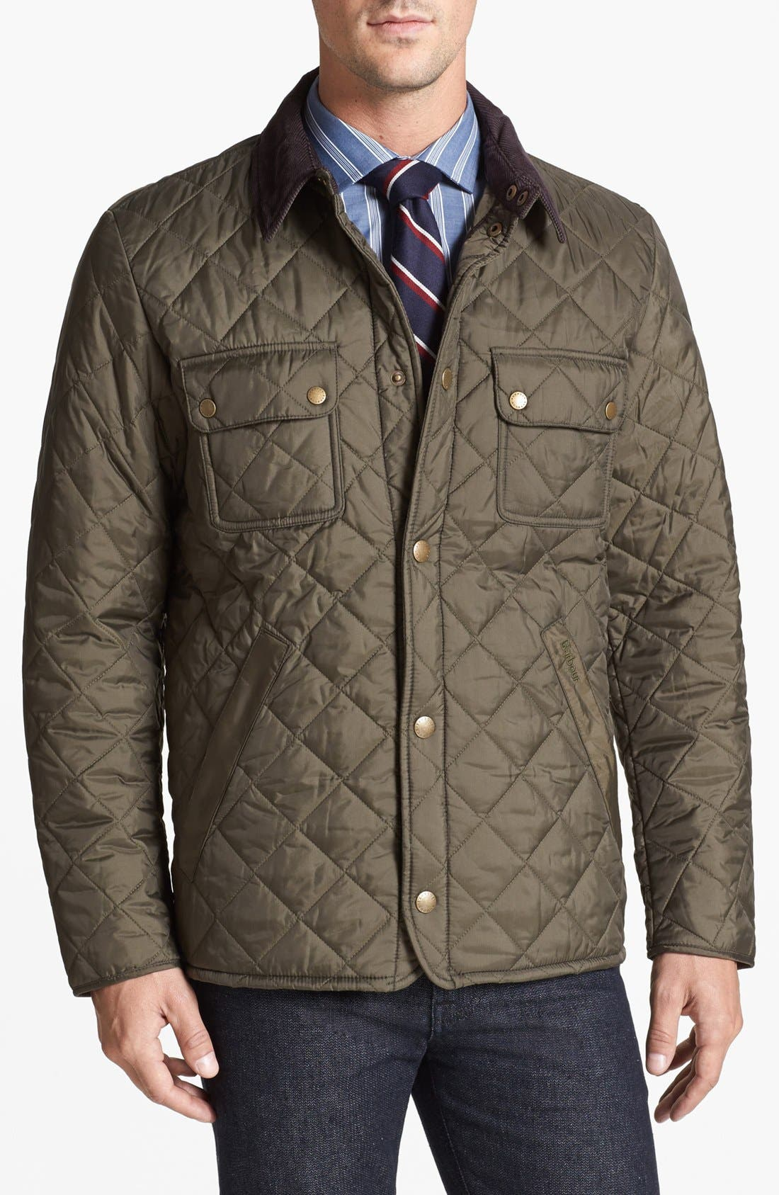 Alternate Image 1 Selected - Barbour 'Tinford' Regular Fit Quilted Jacket