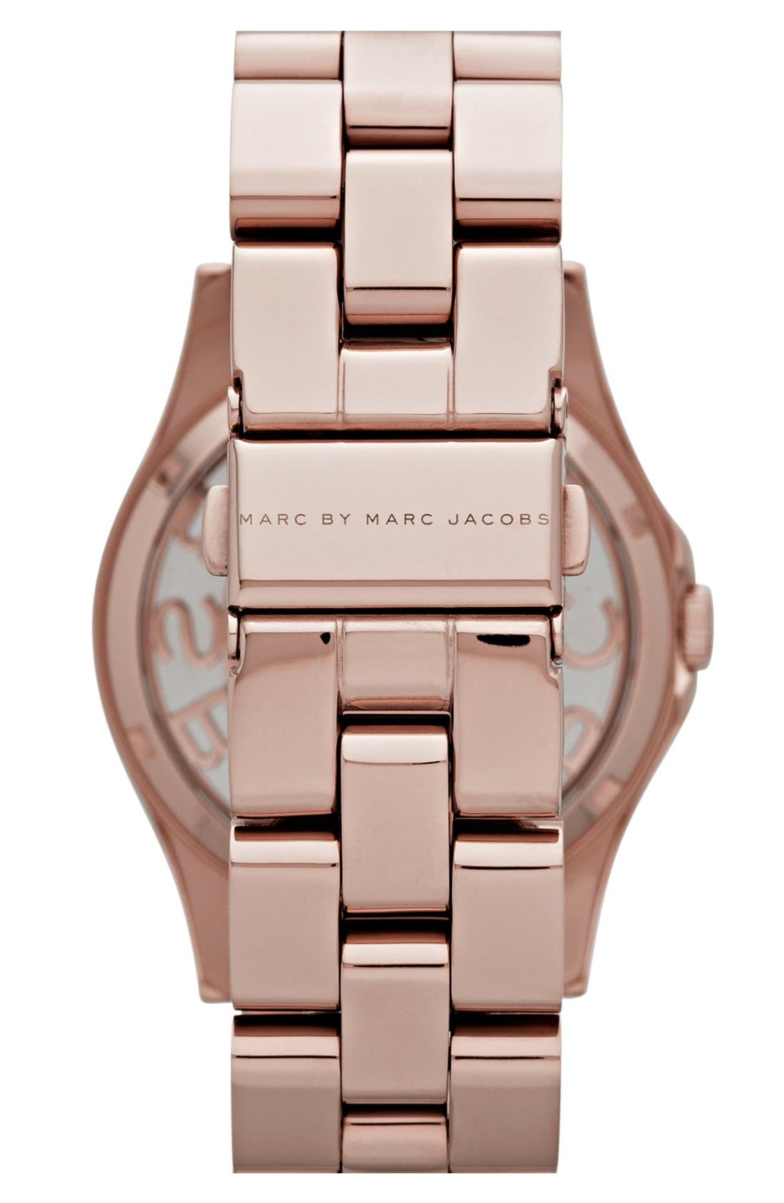 Alternate Image 2  - MARC JACOBS 'Henry Skeleton' Bracelet Watch, 40mm