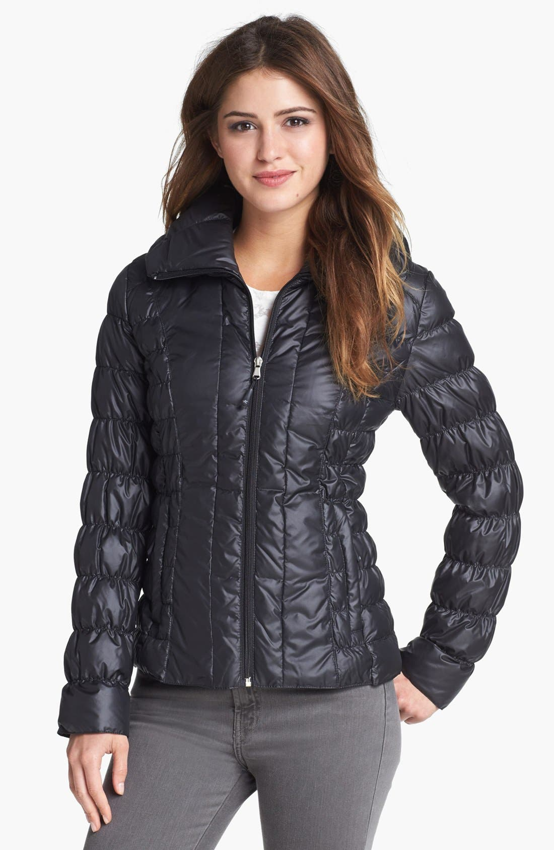 Alternate Image 1 Selected - Kenneth Cole New York Ruched Packable Down Jacket