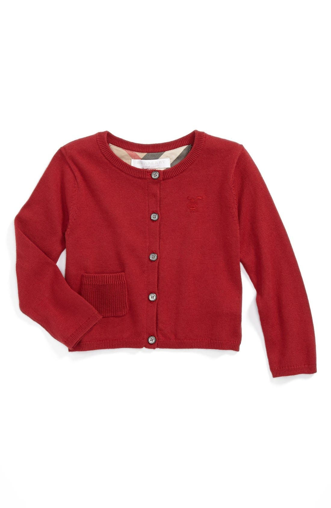 Main Image - Burberry 'Mini Kiki' Cardigan (Toddler Girls)