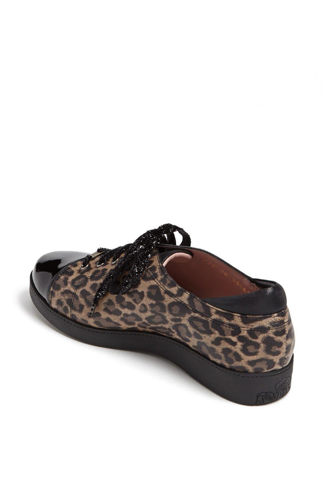 'Aria' Sneaker,                             Alternate thumbnail 2, color,                             Leopard Print Leather