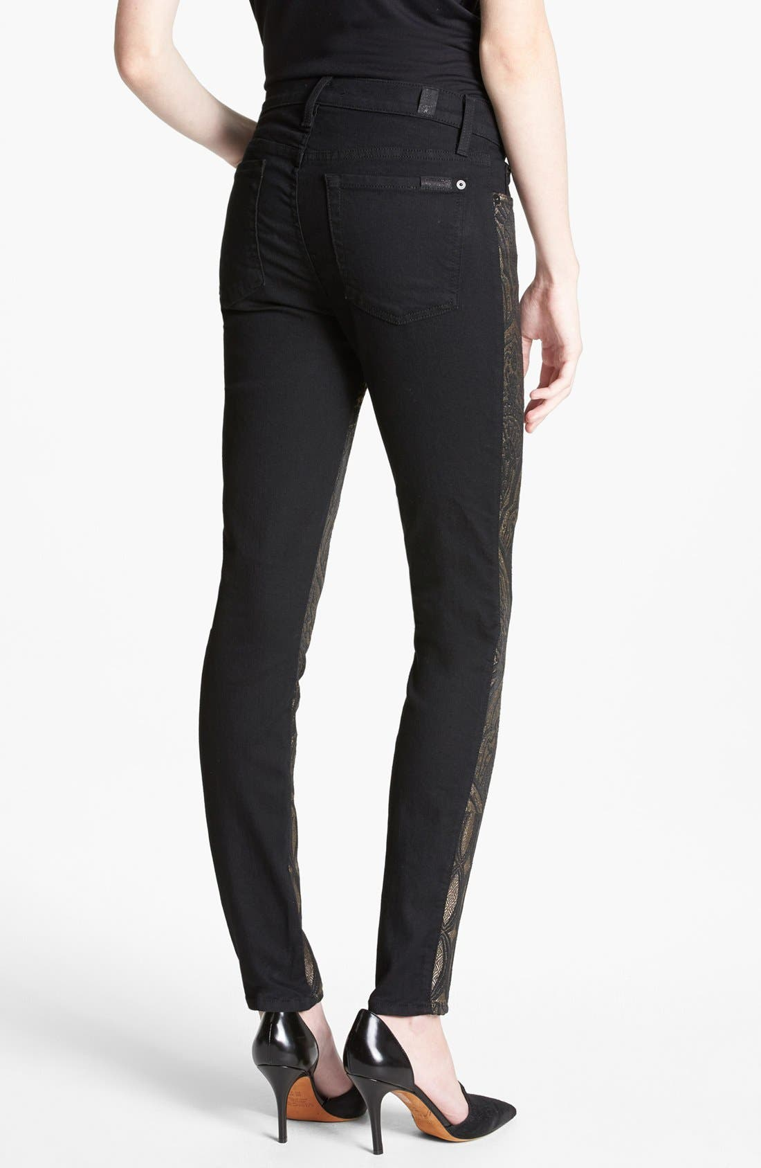 Alternate Image 2  - 7 For All Mankind® 'The Pieced' Skinny Jeans (Art Nouveau Jacquard)