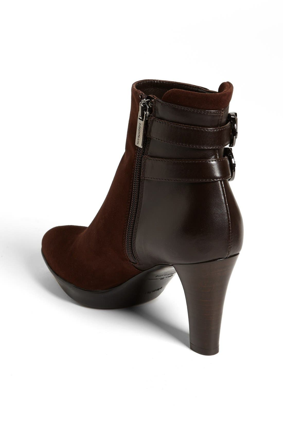 Alternate Image 2  - Aquatalia by Marvin K 'Roma' Weatherproof Suede & Leather Bootie (Women)