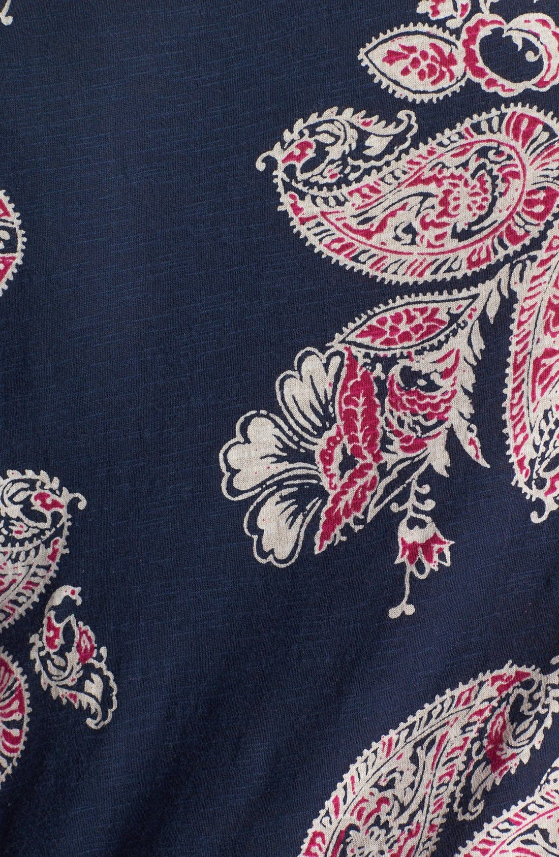 Alternate Image 3  - Lucky Brand 'Taryn' Paisley Print Top (Plus Size)