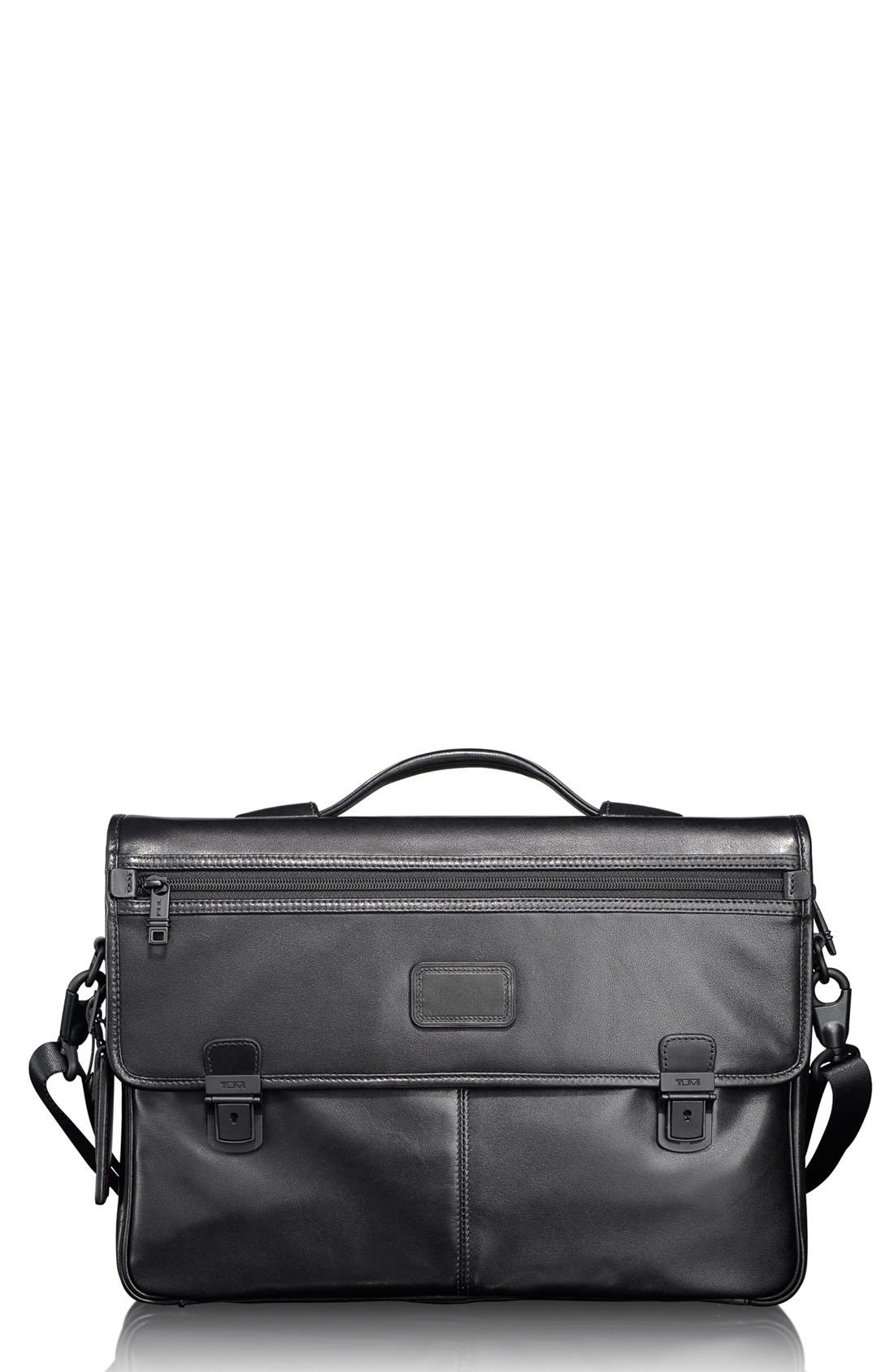 Alternate Image 1 Selected - Tumi 'Alpha' Slim Flap Leather Briefcase