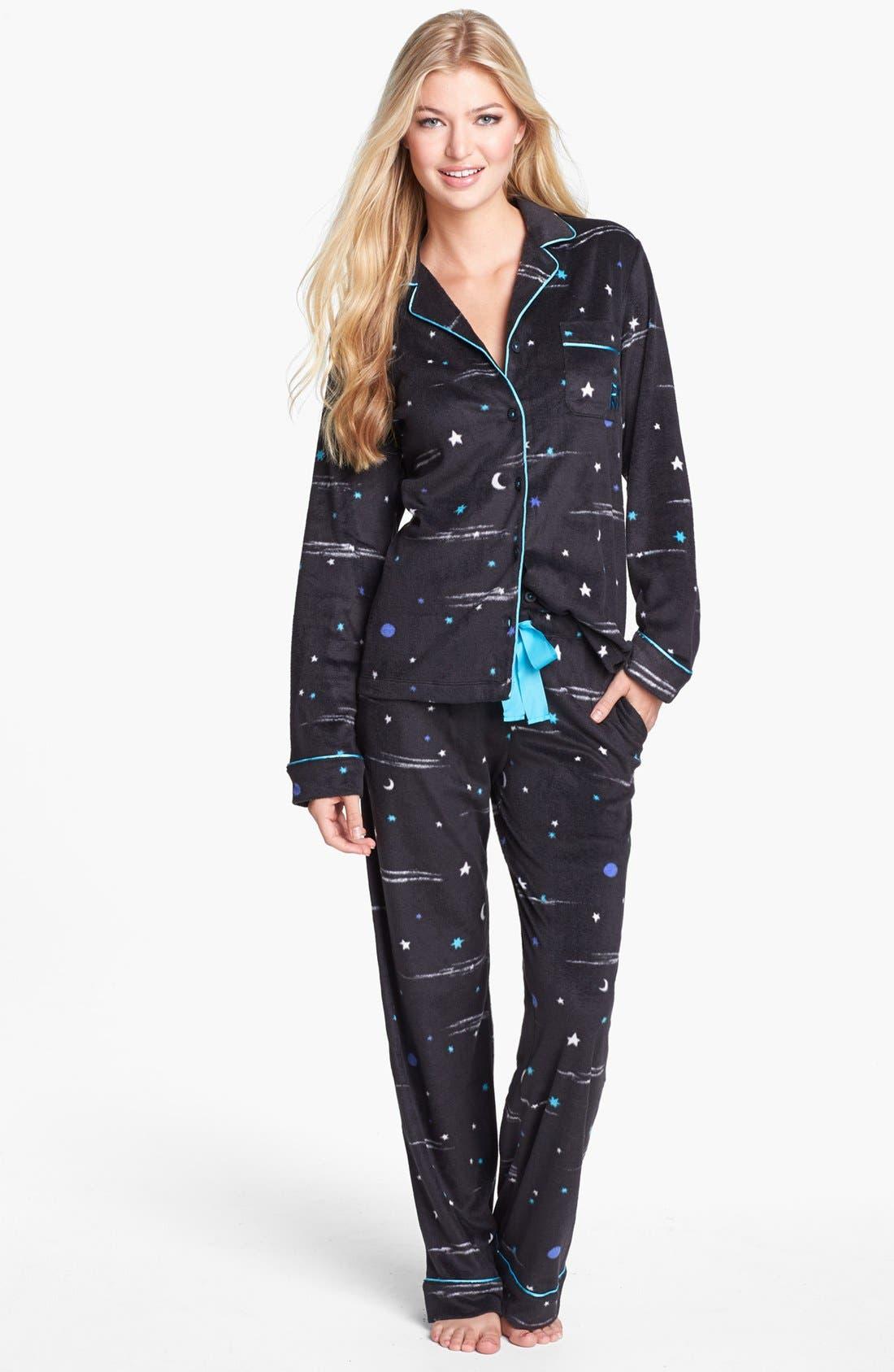 Main Image - DKNY 'Wish List' Fleece Pajamas