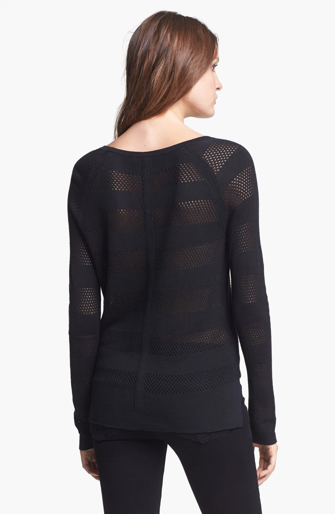 Alternate Image 2  - rag & bone/JEAN 'Genevieve' Mesh Stripe Sweater