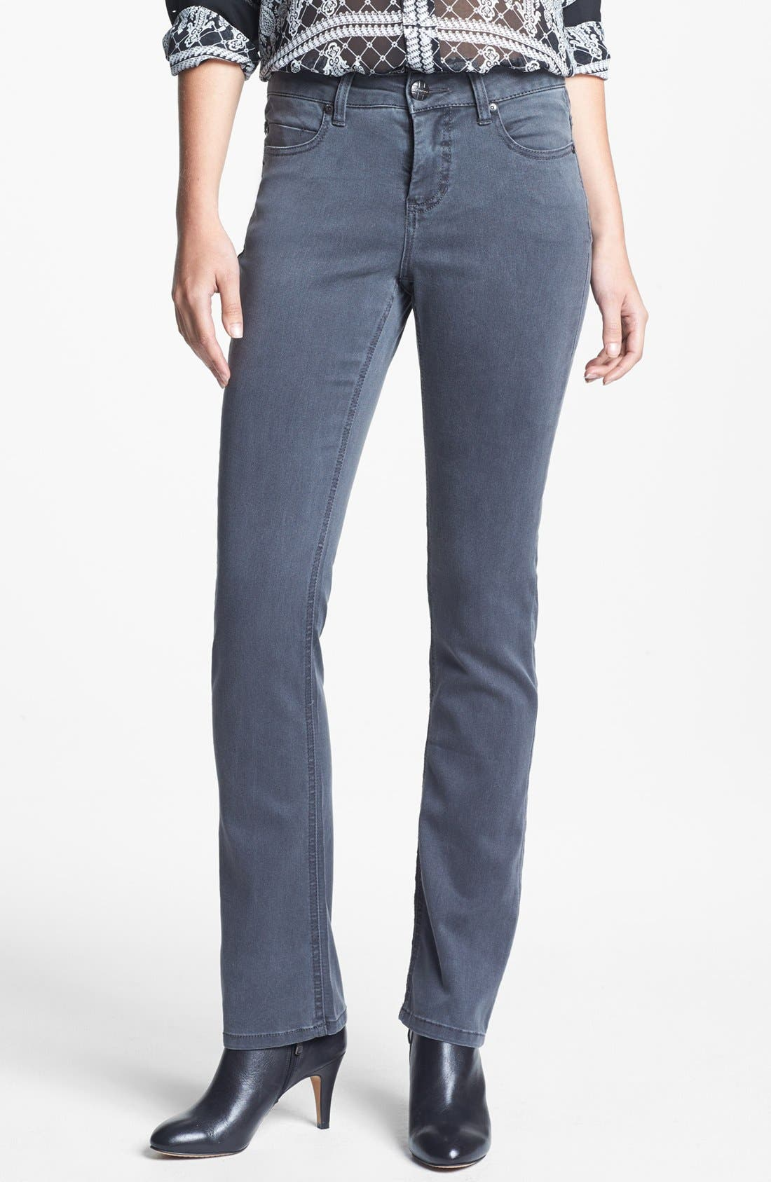 Alternate Image 1 Selected - Liverpool Jeans Company 'Sadie' Straight Leg Supersoft Stretch Jeans (Regular & Petite)