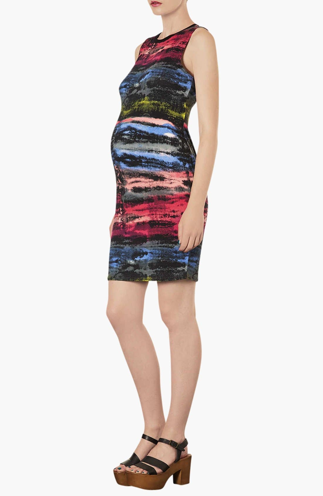Alternate Image 3  - Topshop 'Electric Ray' Midi Maternity Dress