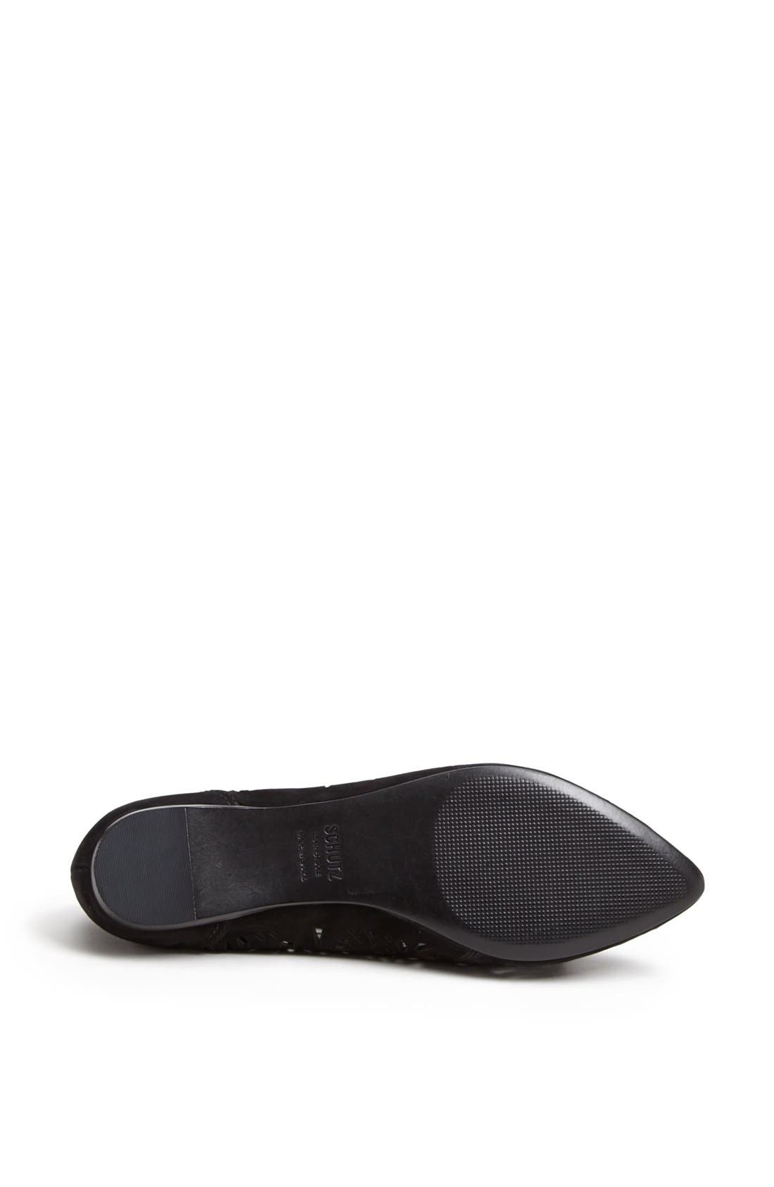 'Cicely' Perforated Flat,                             Alternate thumbnail 4, color,                             Black