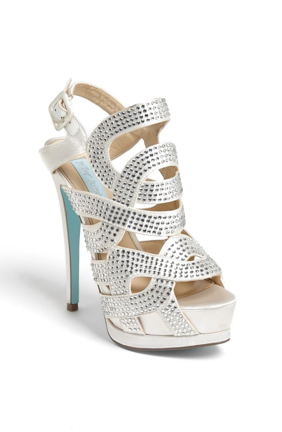 Alternate Image 1 Selected - Blue by Betsey Johnson 'Love' Sandal