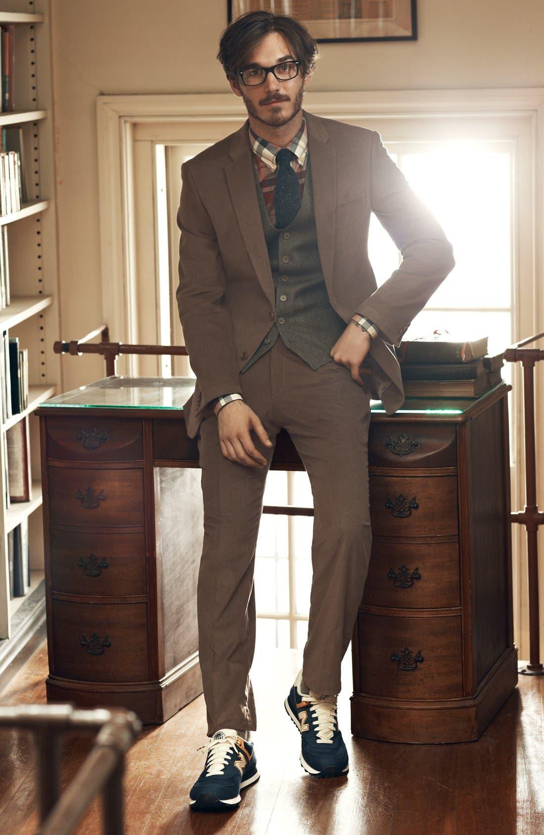 Main Image - John Varvatos Star USA Blazer, Vest, Trousers & Gant Sport Shirt
