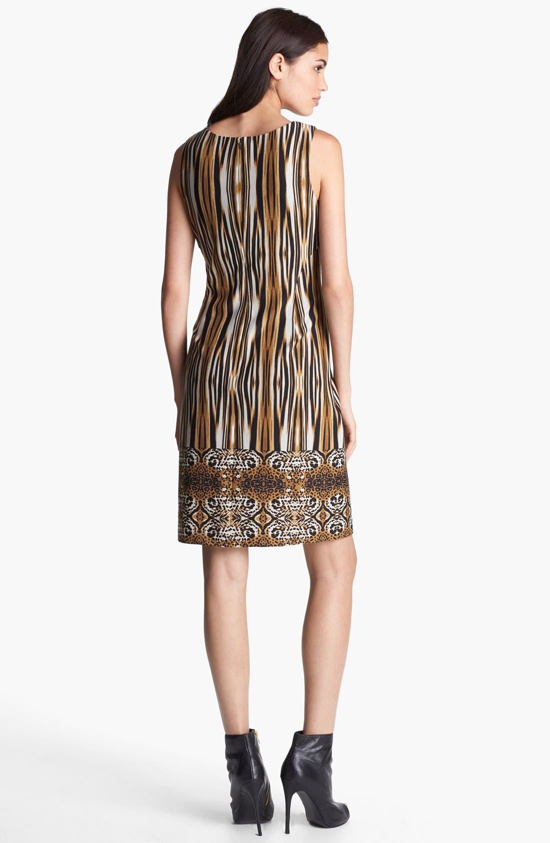 Alternate Image 2  - Ivanka Trump Print Ponte Knit Sheath Dress