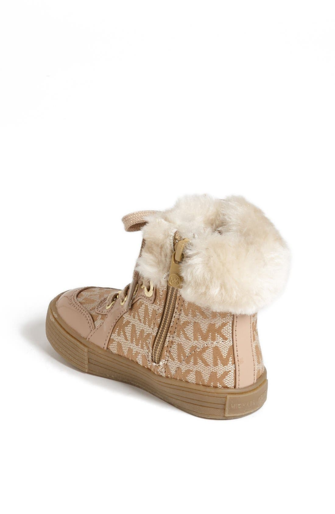 Alternate Image 2  - MICHAEL Michael Kors 'Ivy' Faux Fur High Top Sneaker (Little Kid)